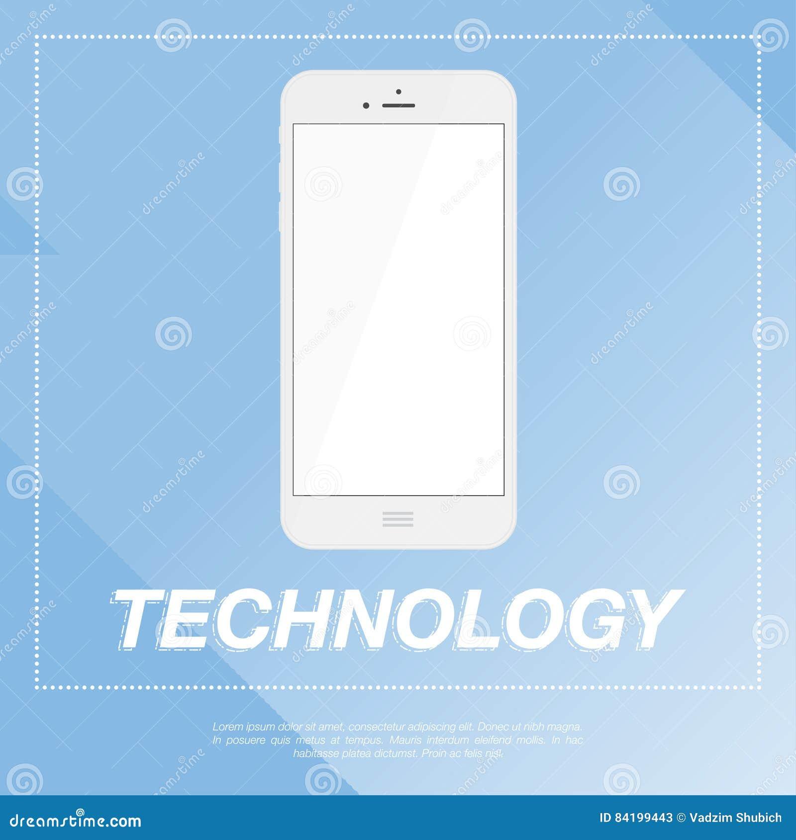 Иллюстрация EPS 10 дизайна Smartphone передвижная