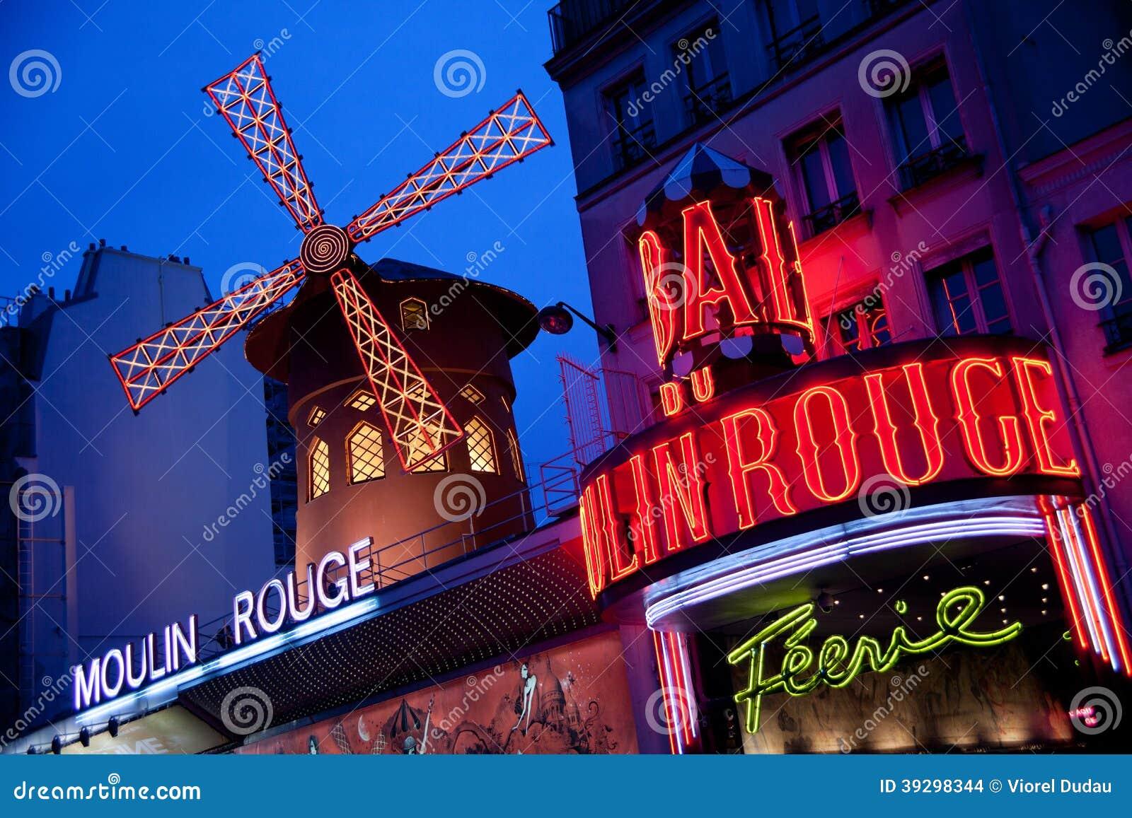 Кабаре румян Moulin в Париже