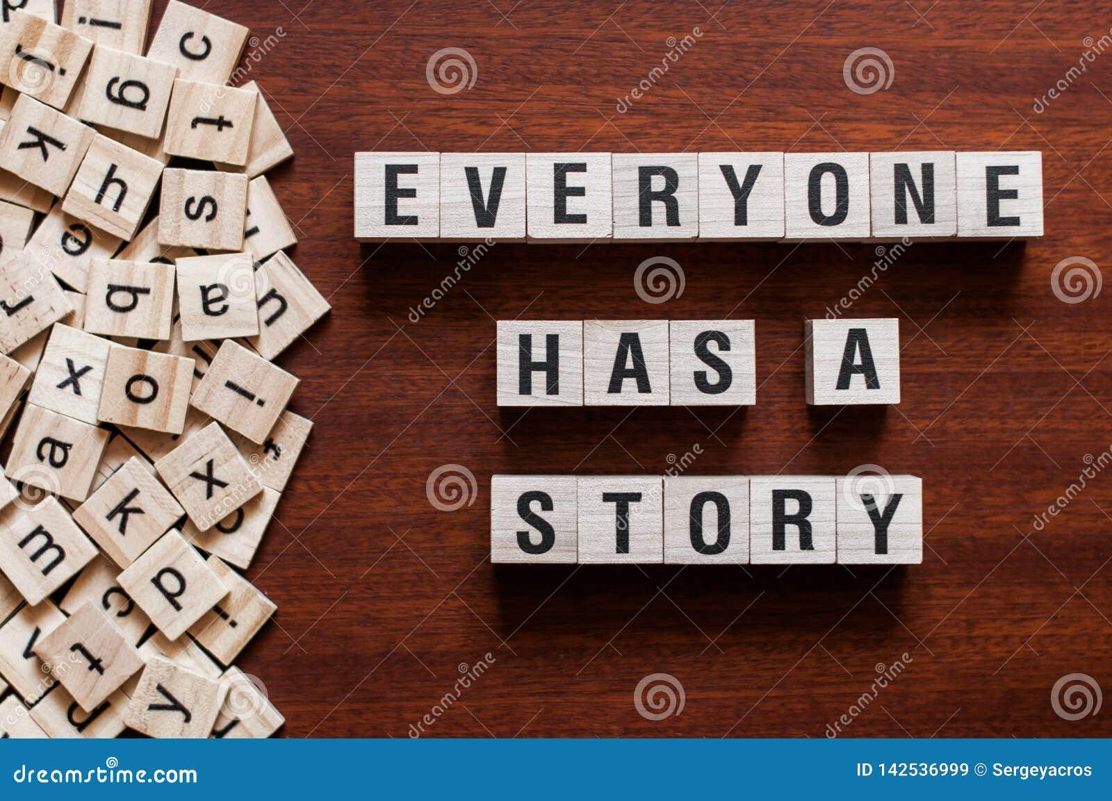 Каждый имеет концепцию слова рассказа