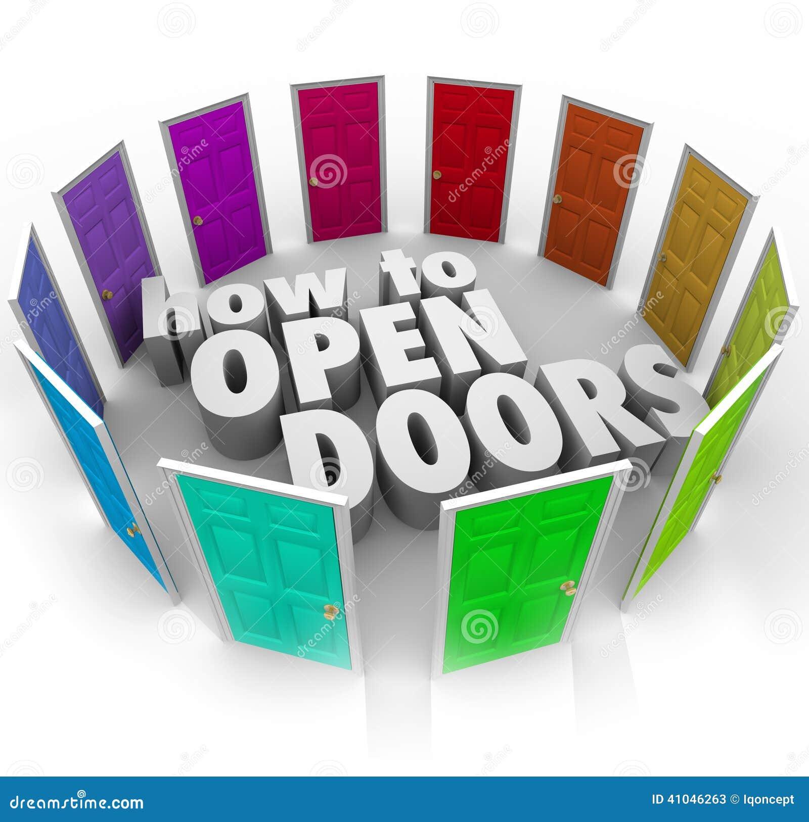 Как к путям доступа входа возможности слов открыть дверей новым
