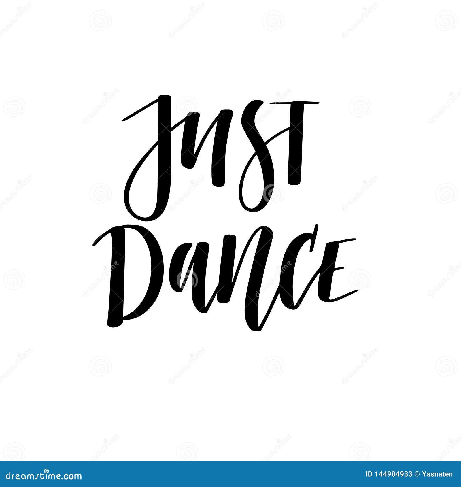 Как раз дизайн нарисованной вручную цифровой каллиграфии танца мотив