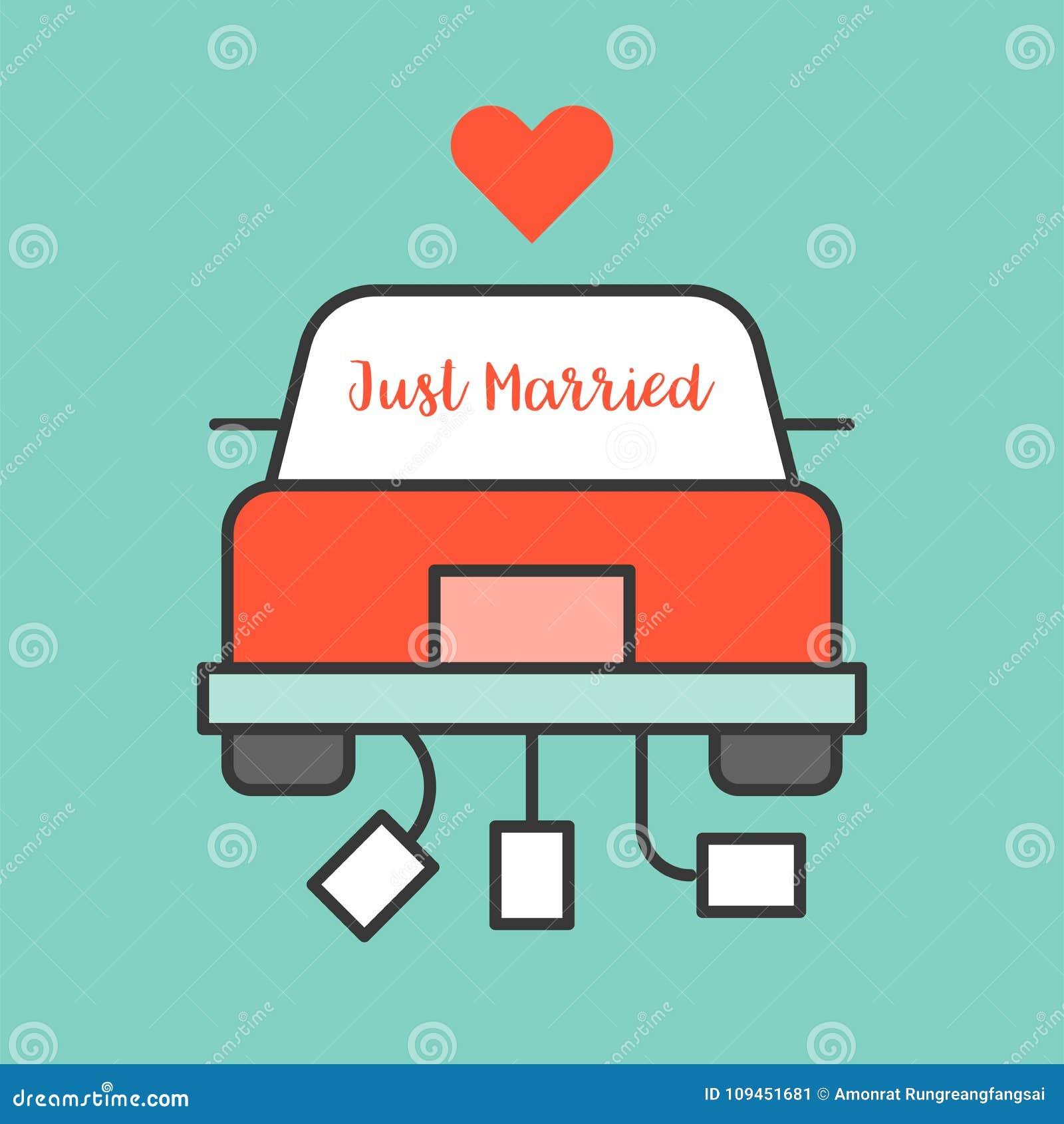 Как раз пожененный знак на автомобиле свадьбы