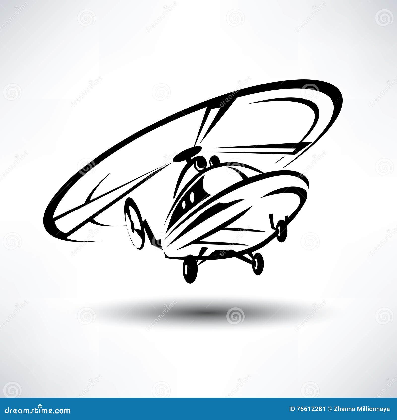 Elicottero Stilizzato : как смогите конструировать используемый логотип логоса