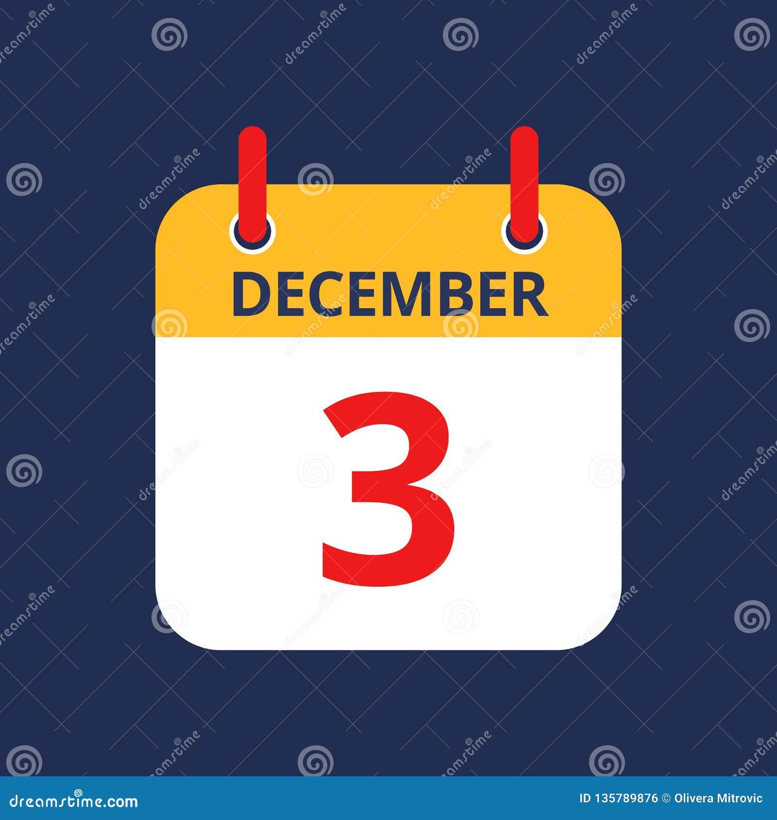 Календарь 3-ее -го декабрь