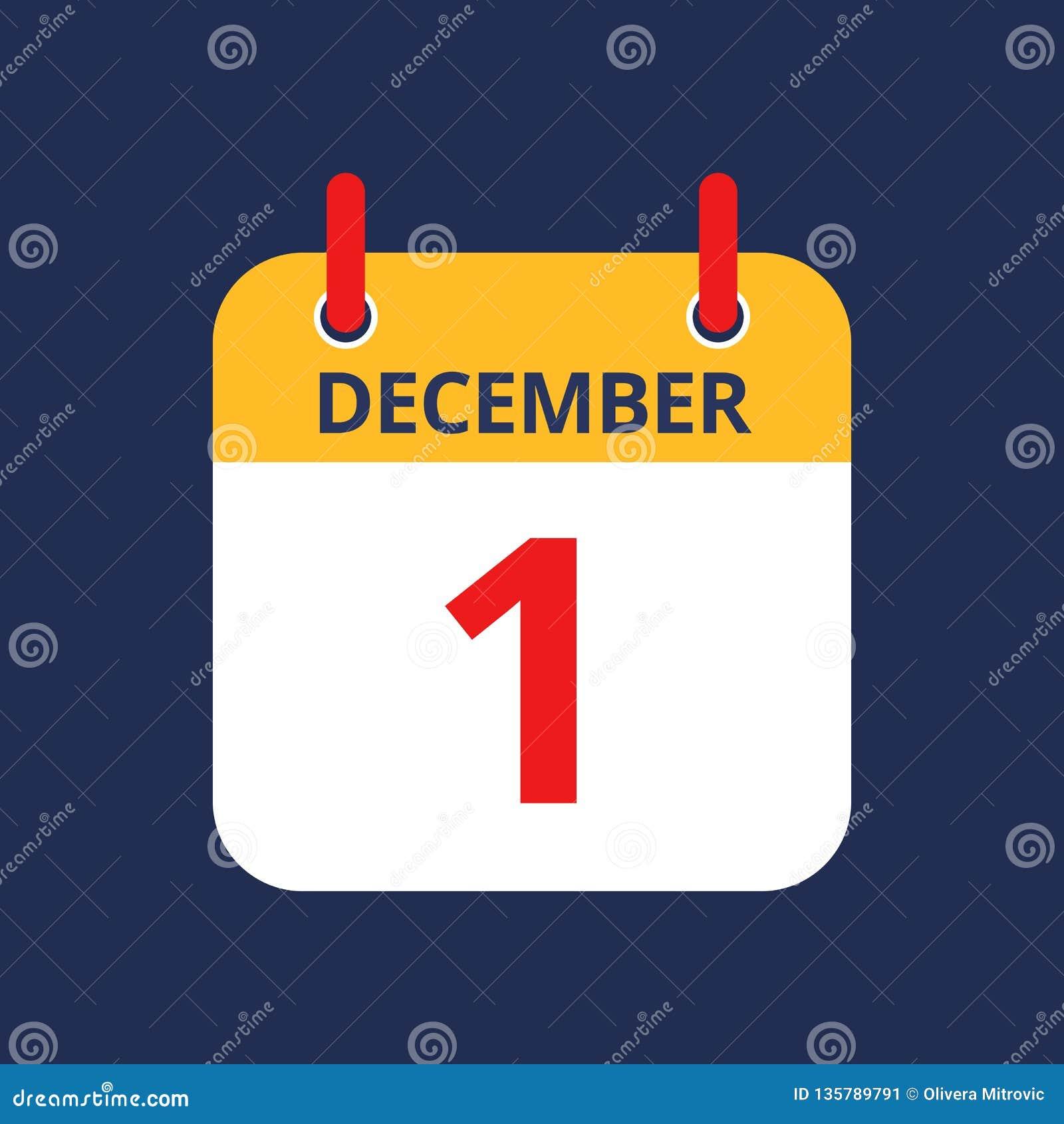 Календарь 1-ое -го декабрь