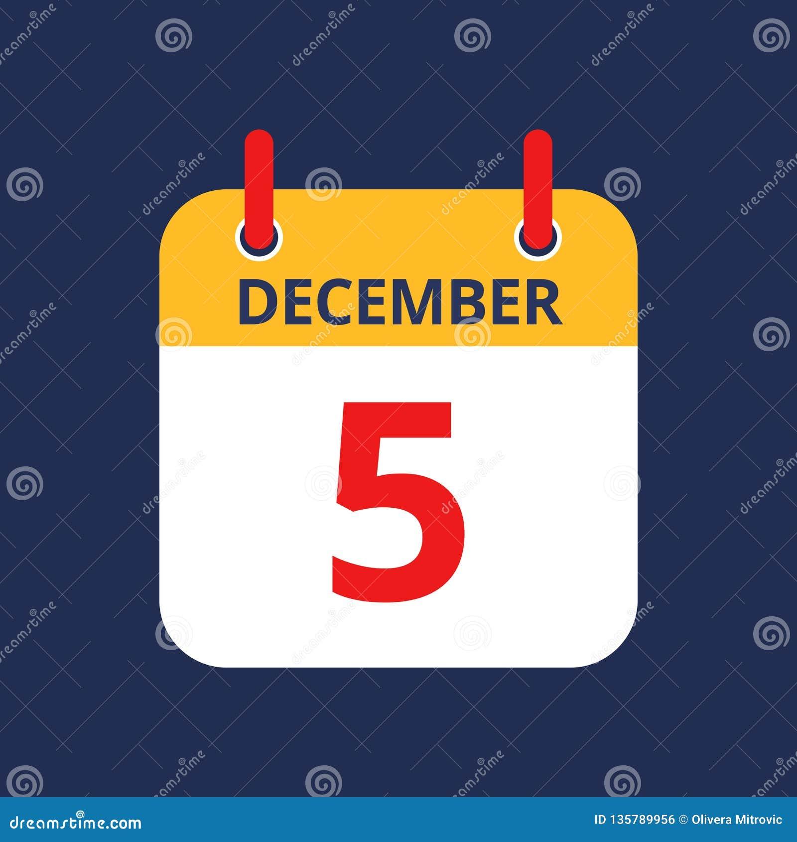 Календарь 5-ое -го декабрь
