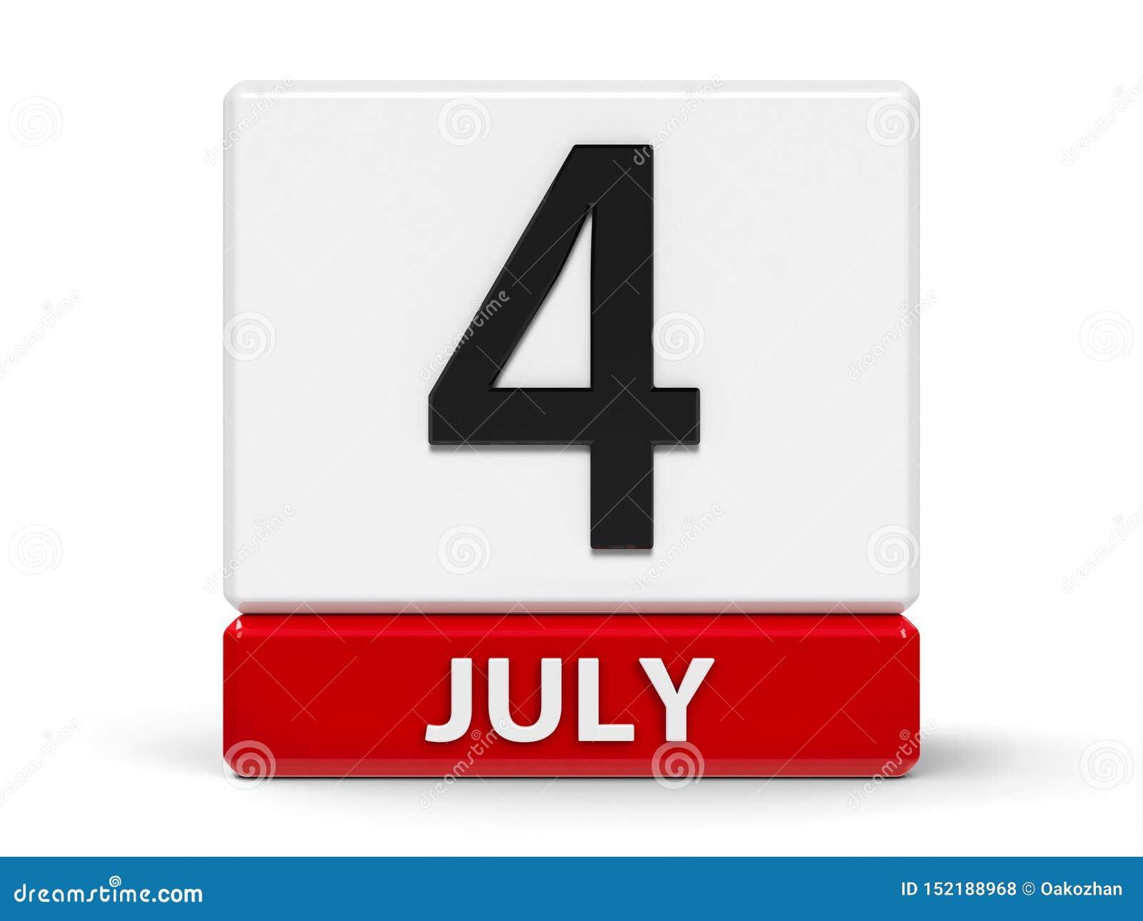 Календарь 4-ое июля кубов
