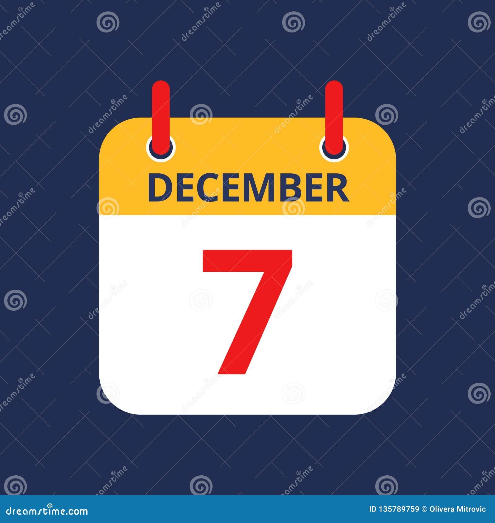Календарь седьмое -го декабрь