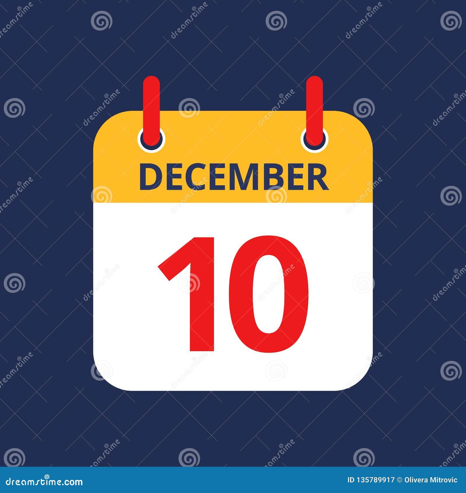 Календарь 10th -го декабрь