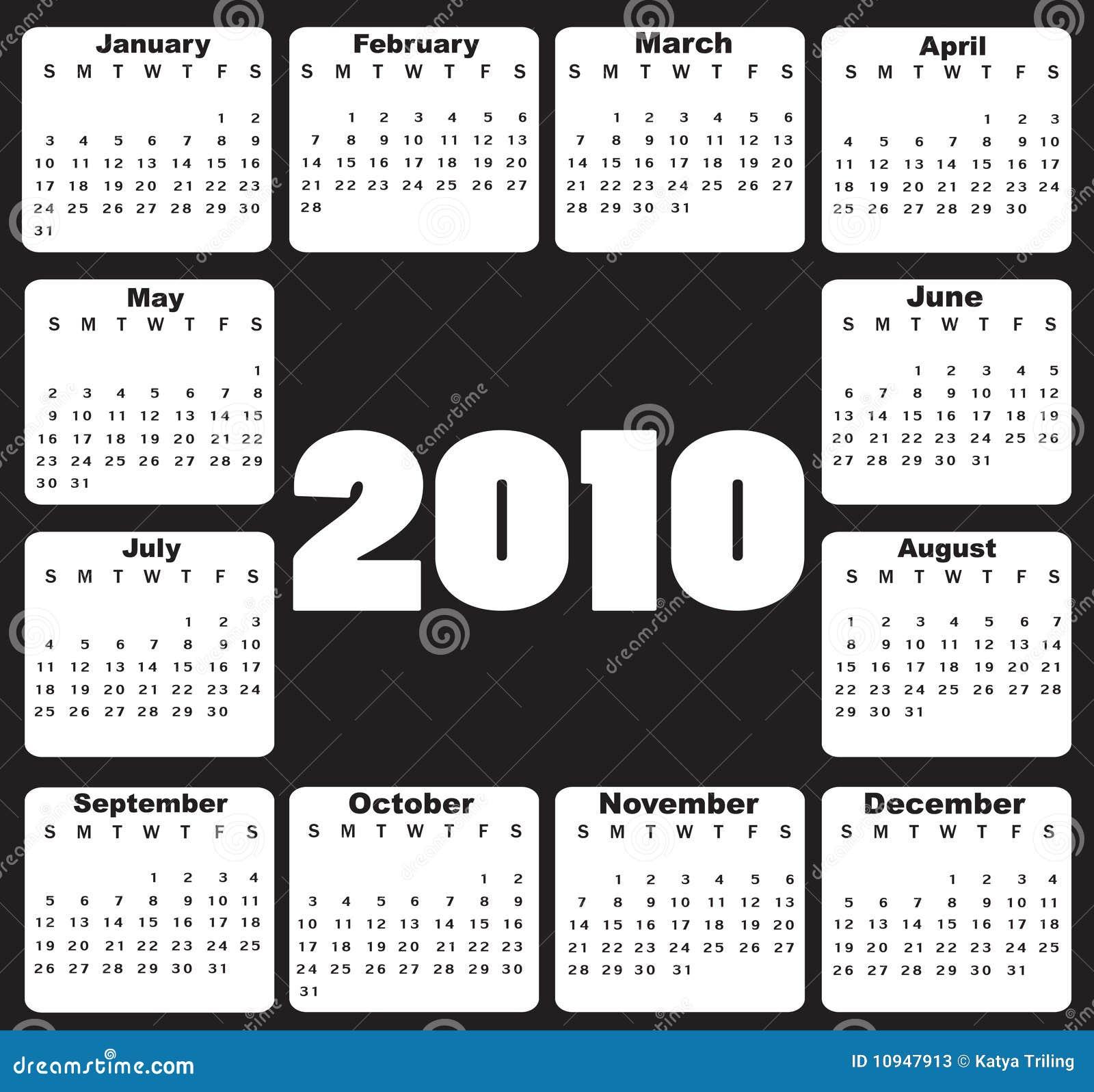 Календар на 2010
