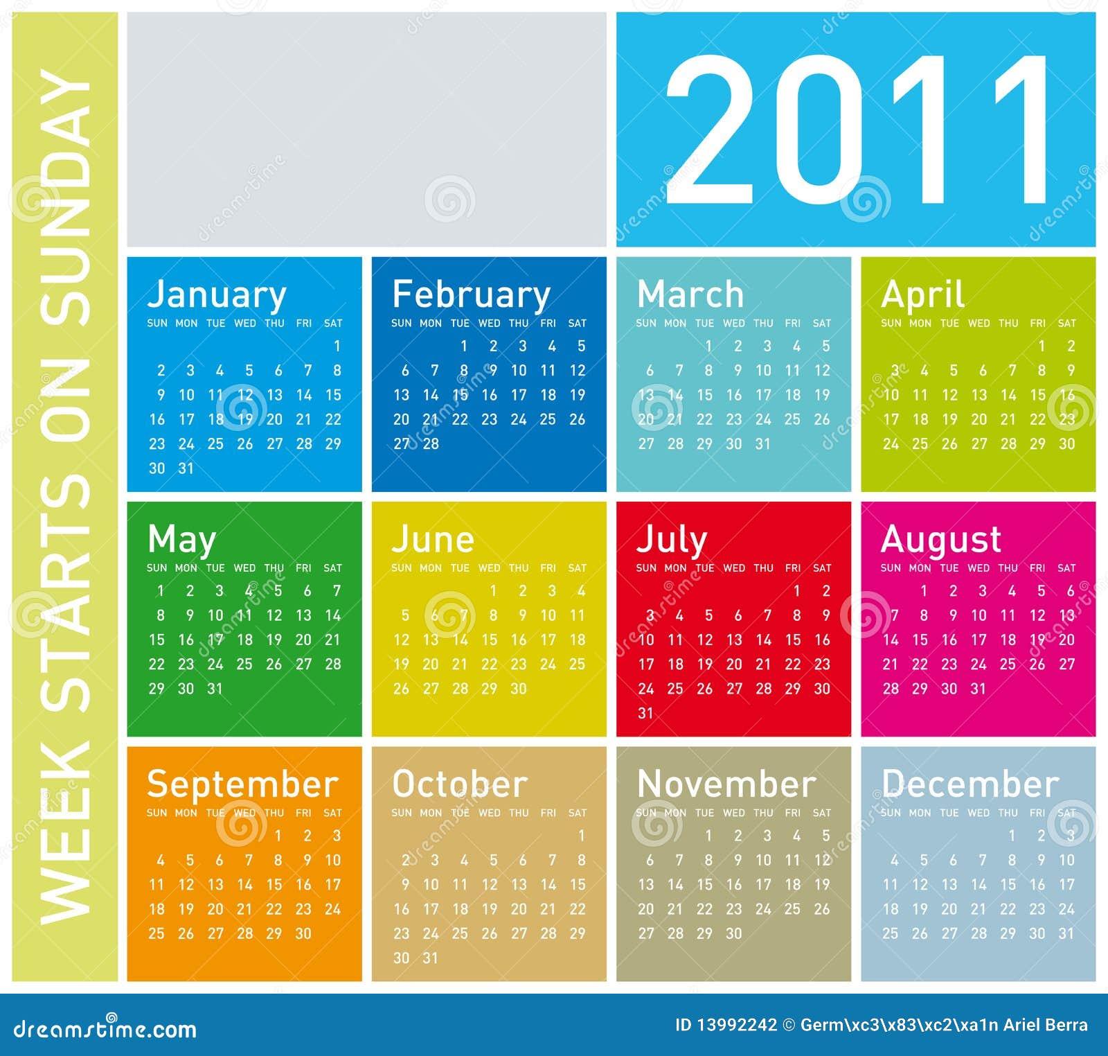 календар 2011 цветастый
