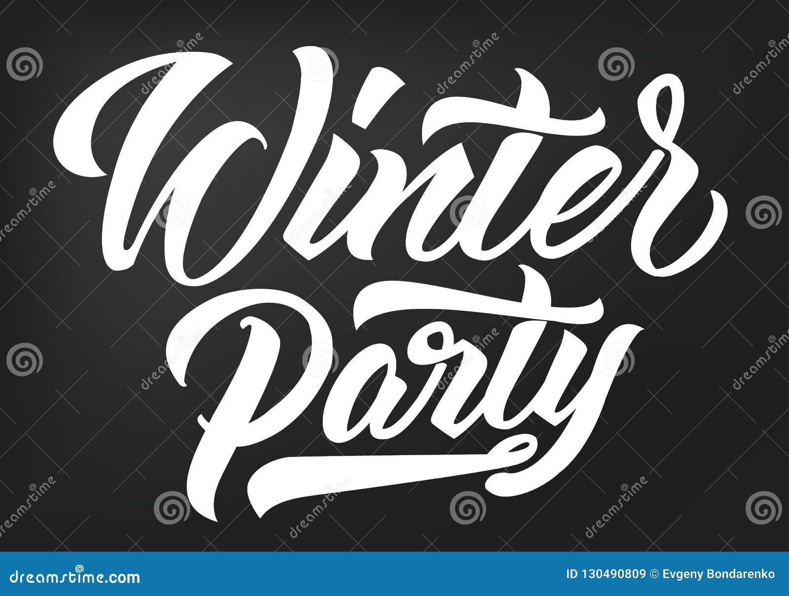 Каллиграфия партии зимы