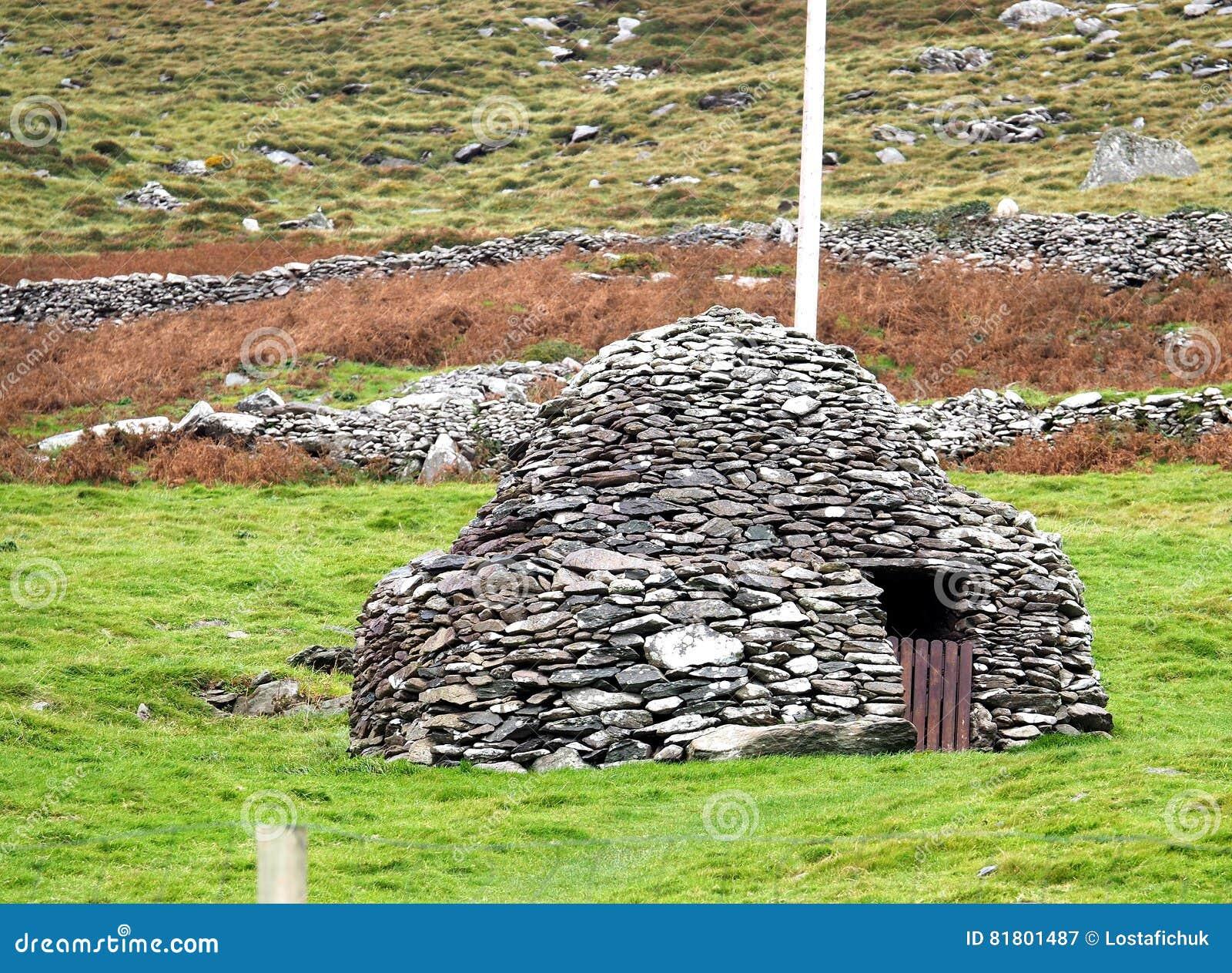 Каменная хата или Clochan в Ирландии