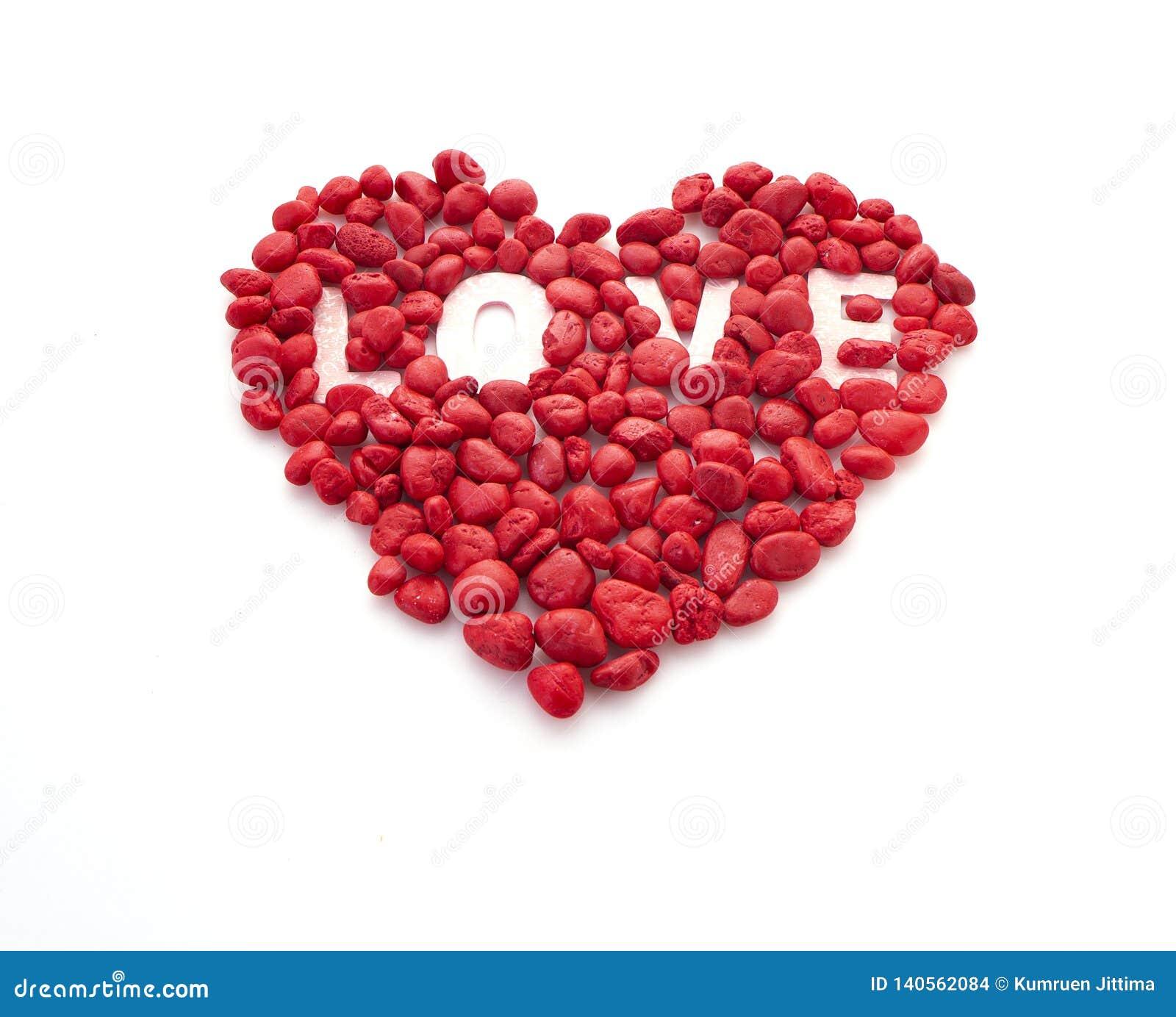 Камень творческой любов маленький красный