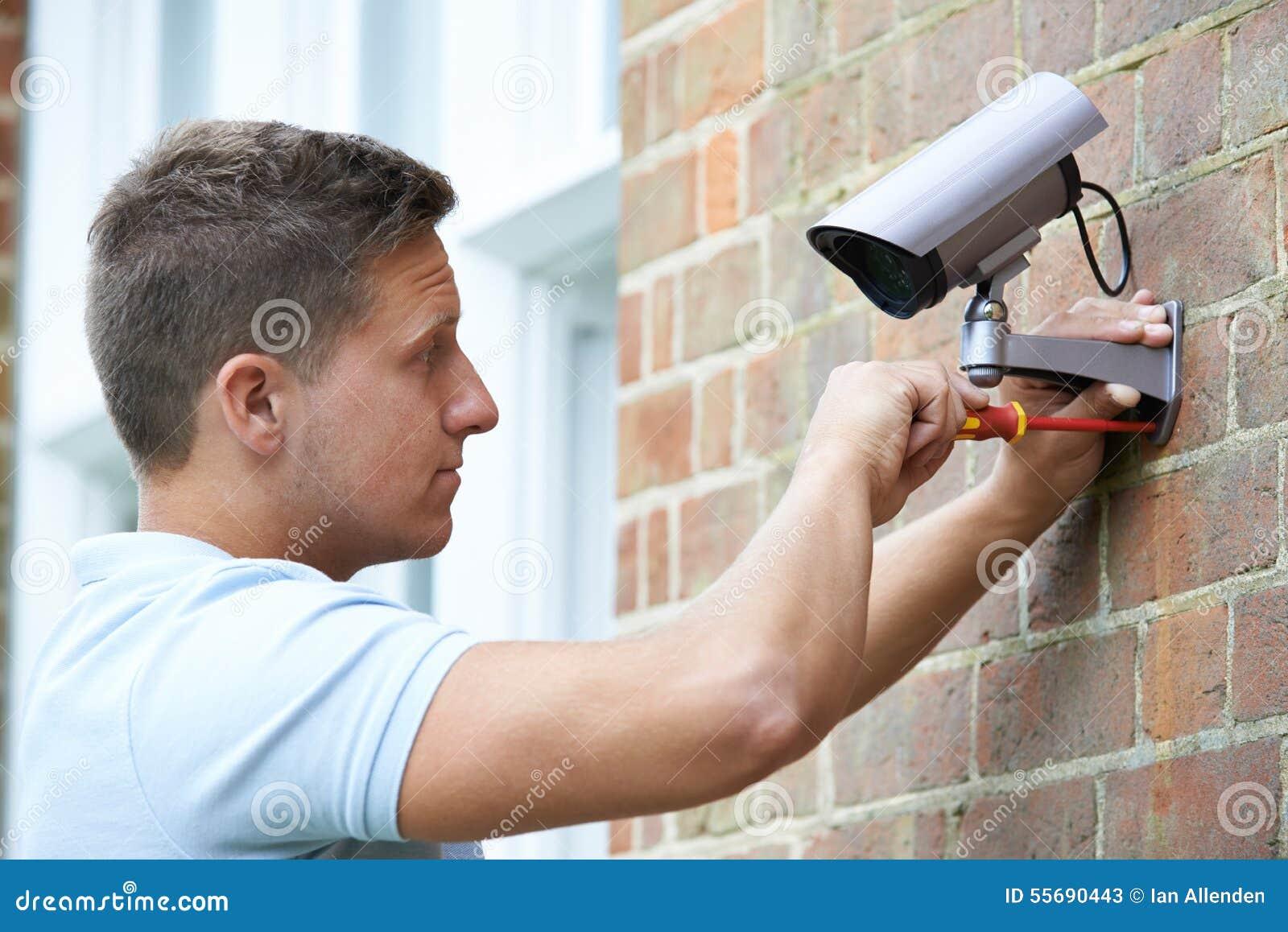 Камера слежения консультанта по вопросам безопасности подходящая для того чтобы расквартировать стену