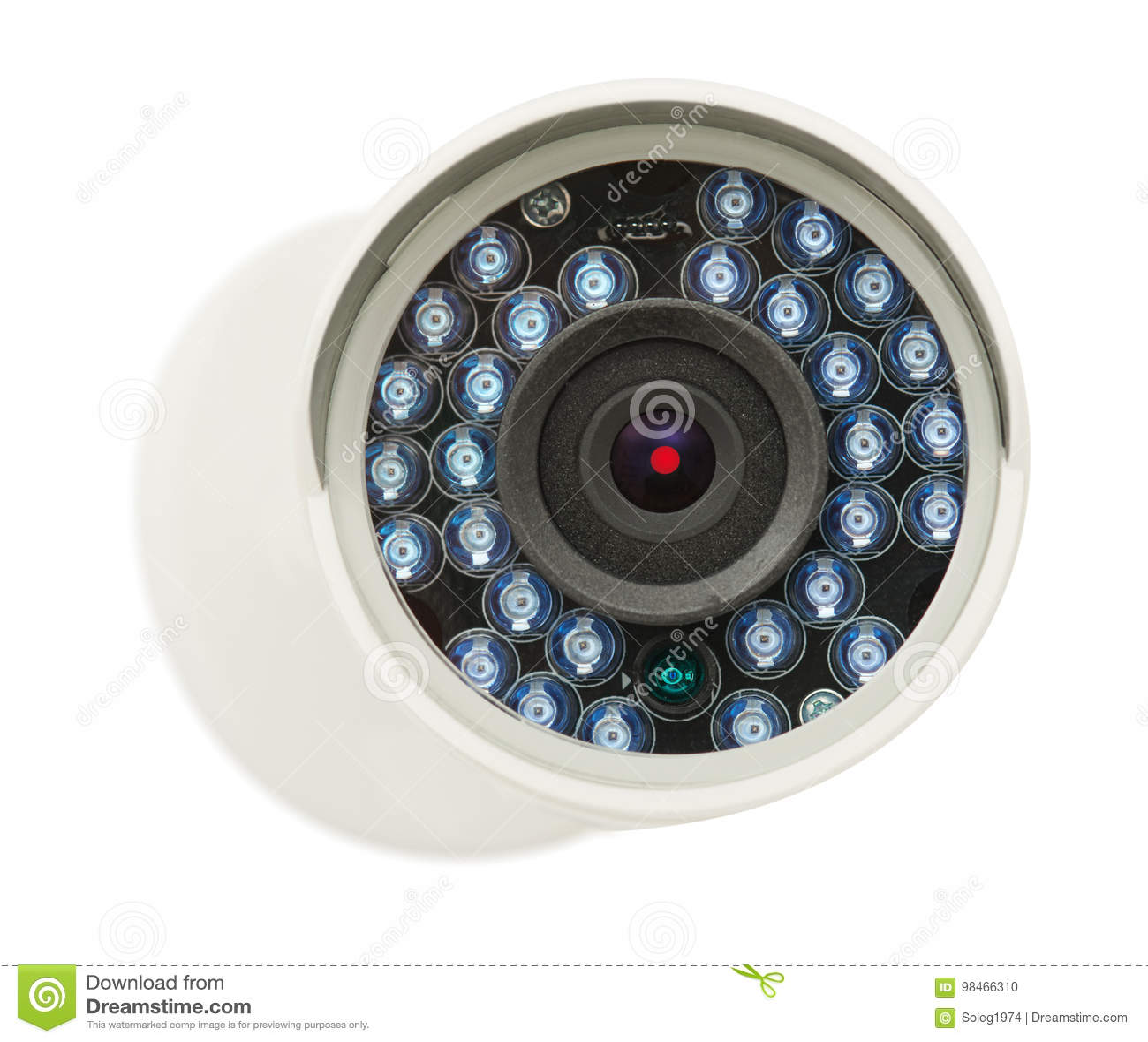 Камера IP безопасностью CCTV, фото крупного плана, изолировала объект на белизне