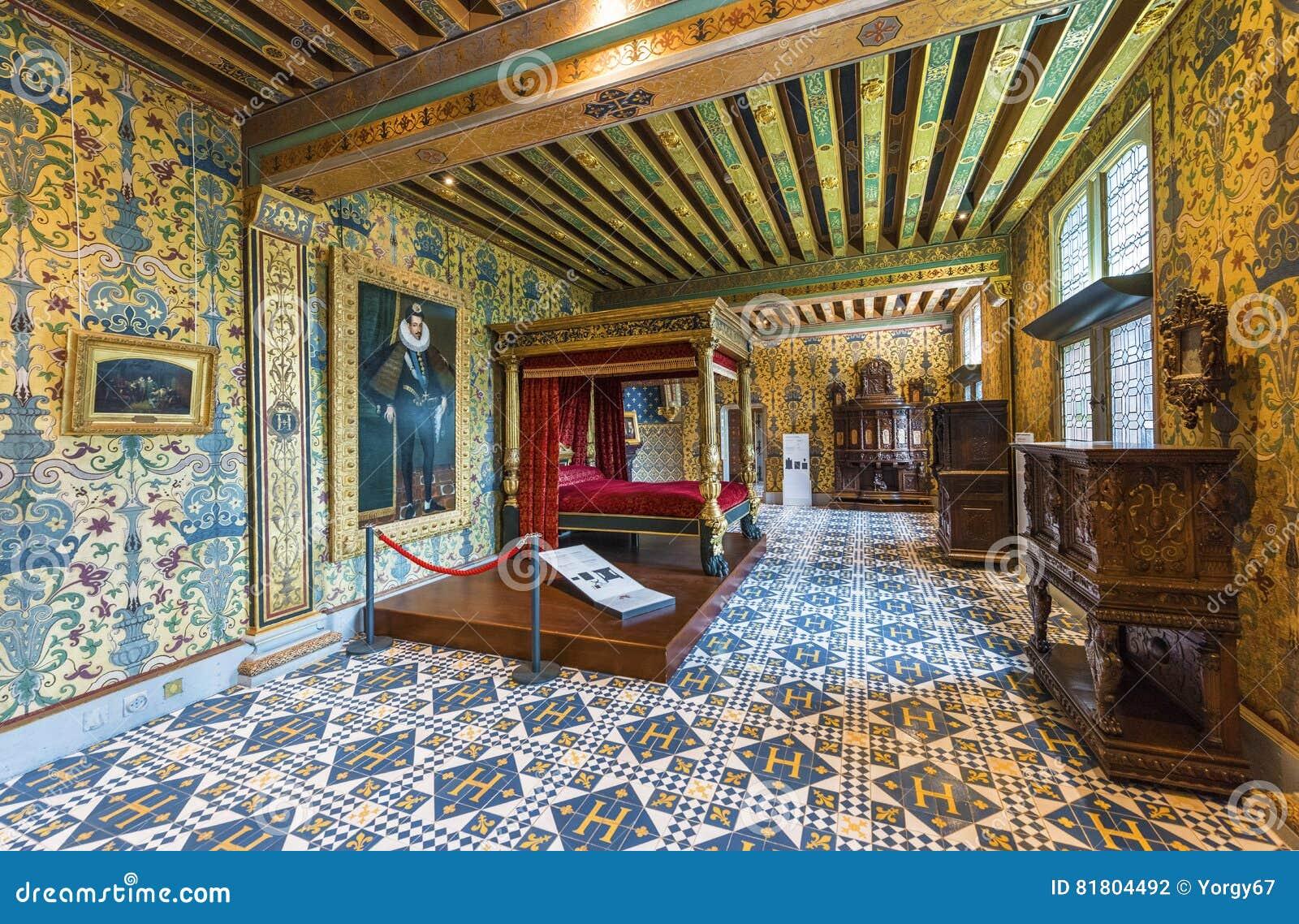 Камера ` s короля в замке Blois