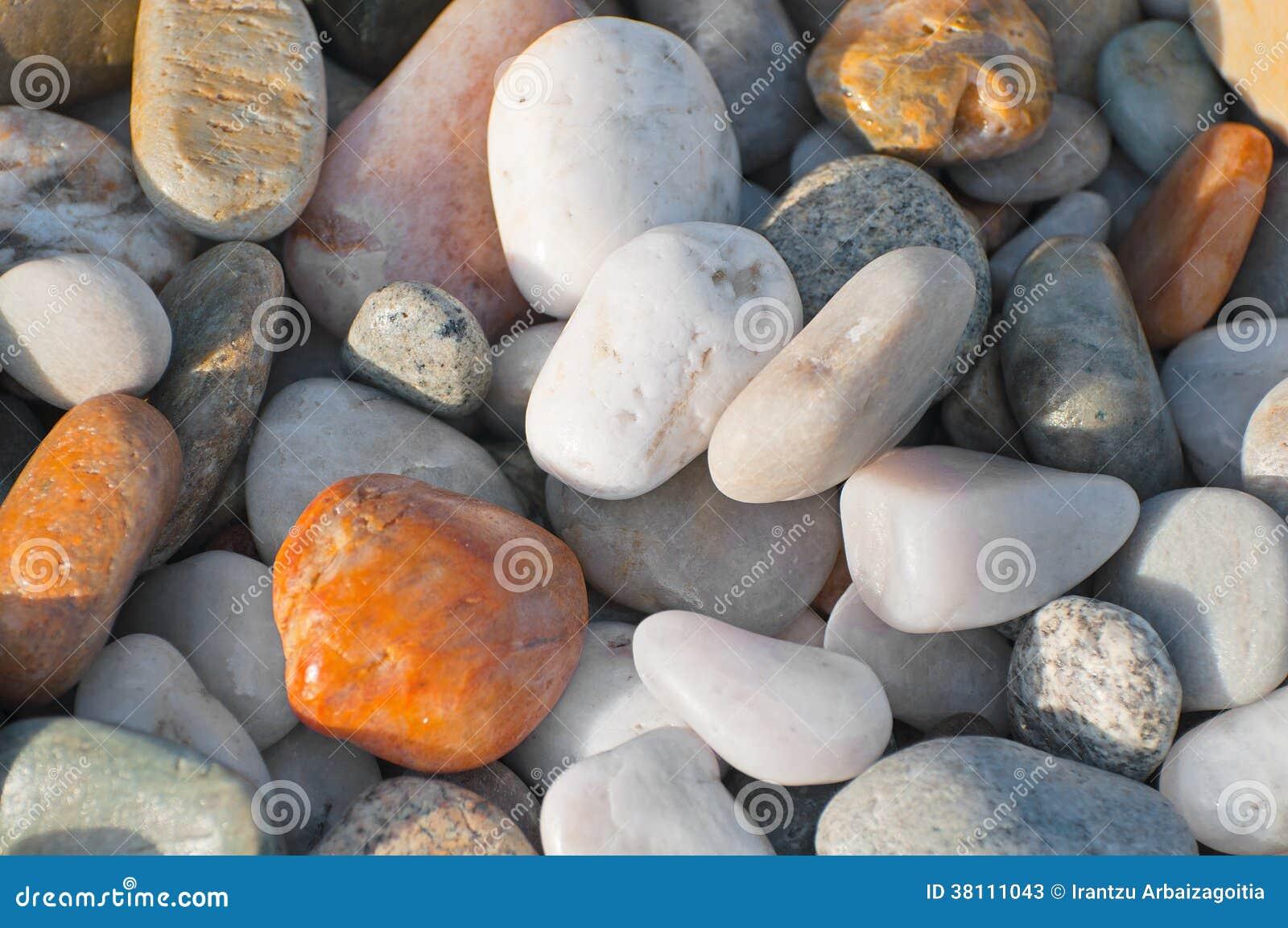 Камни предпосылка реки или пляжа, текстура