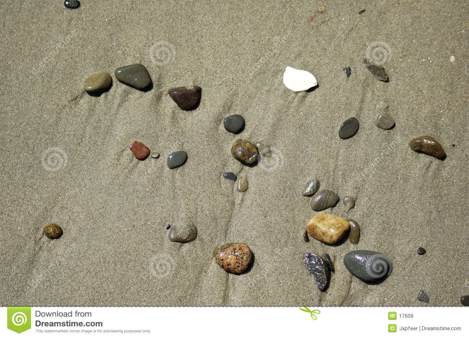 камушки пляжа зашкурят место