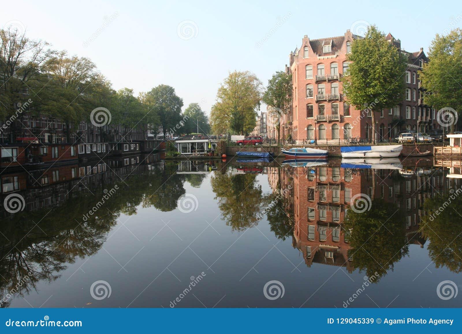 Канал Амстердам Нидерланды, Gracht Амстердам Nederland