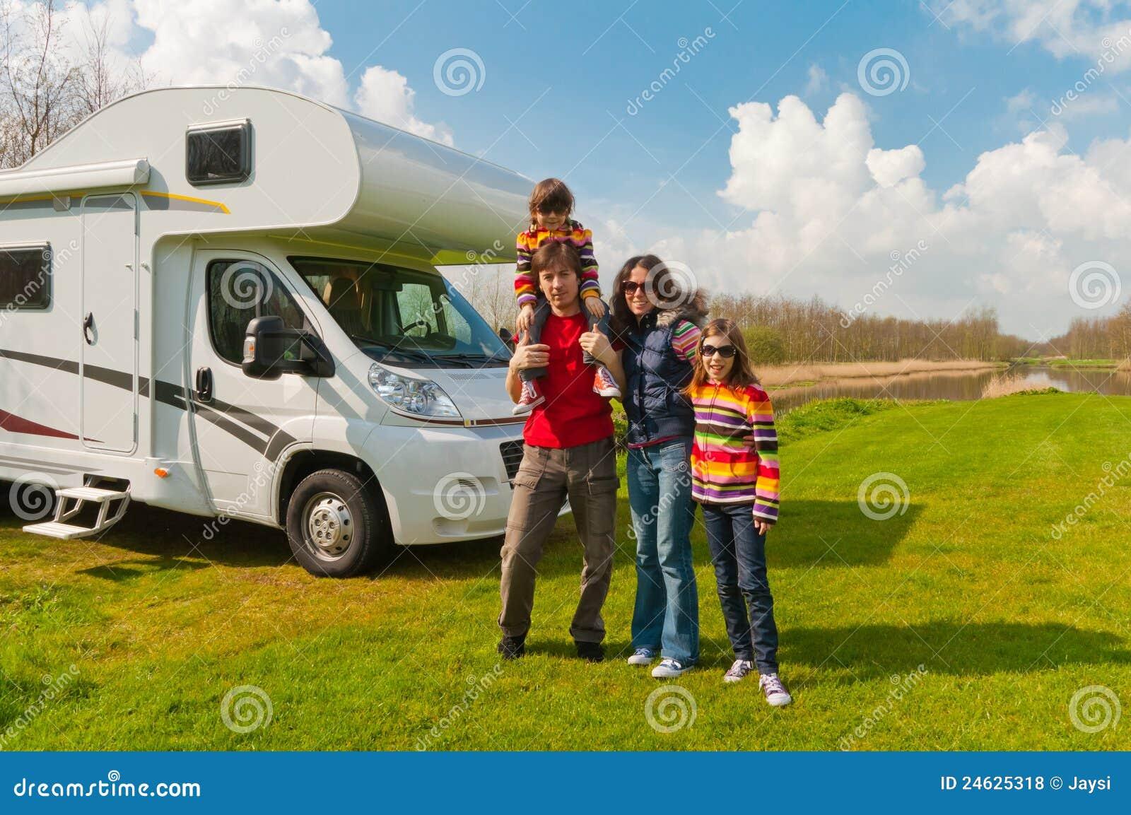 каникула отключения motorhome семьи