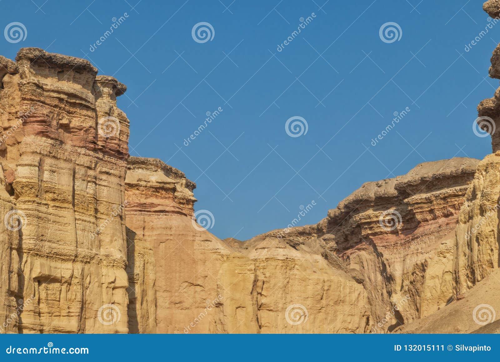 Каньоны в пустыне Namibe вышесказанного anisette С метками размывания