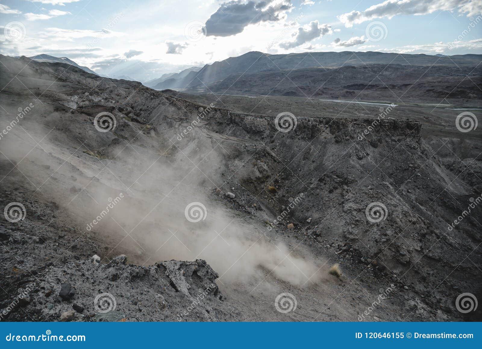 Каньон после массивнейшего землетрясения