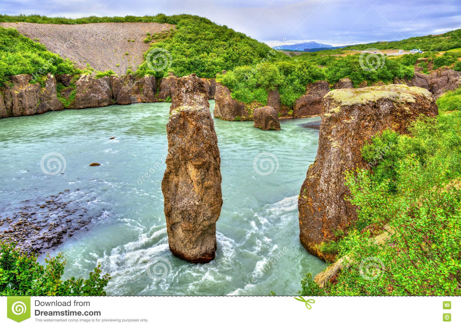 Каньон Bruarhlod реки Hvita в Исландии