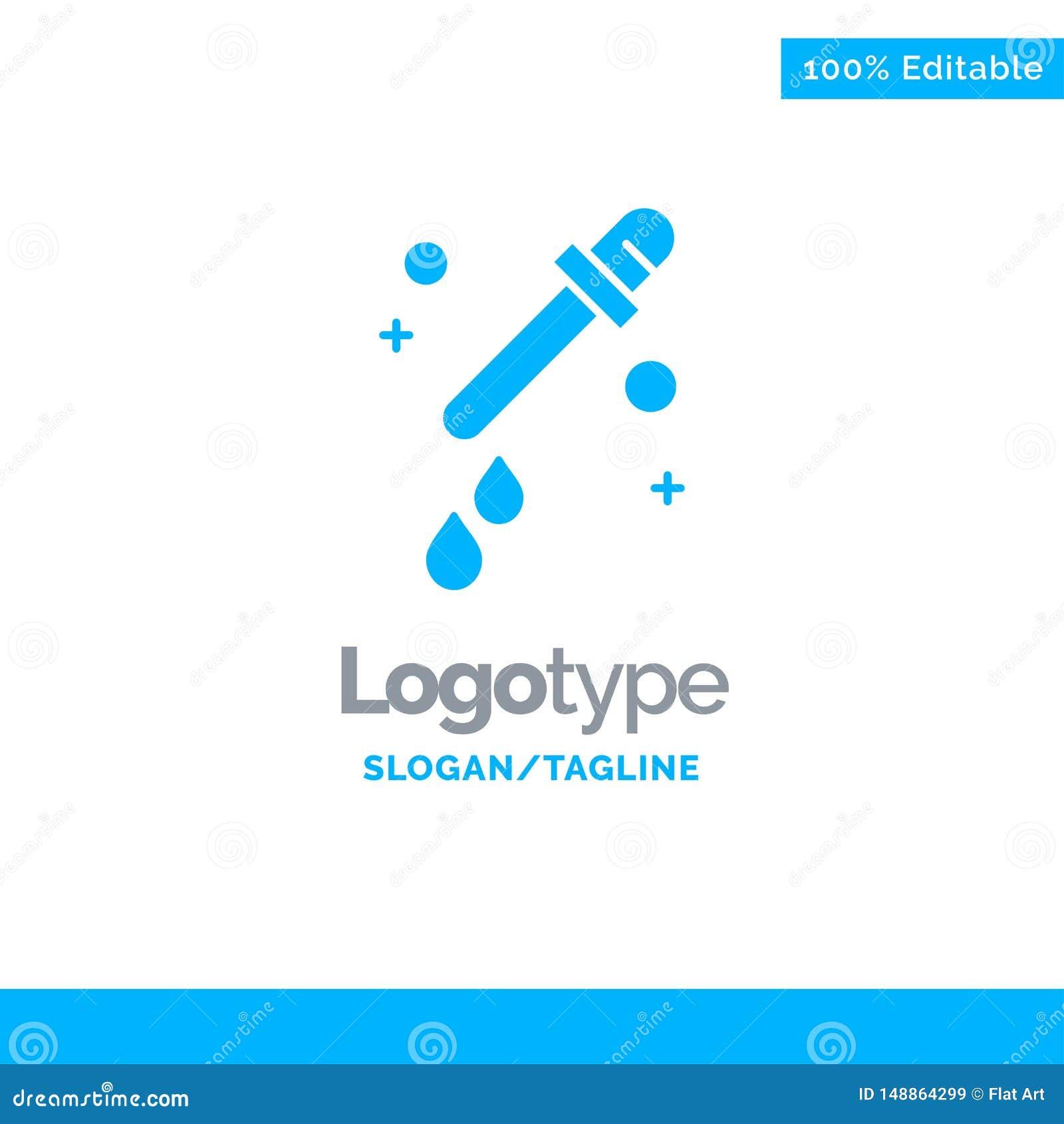 Капельница, пипетка, шаблон логотипа науки голубой твердый r