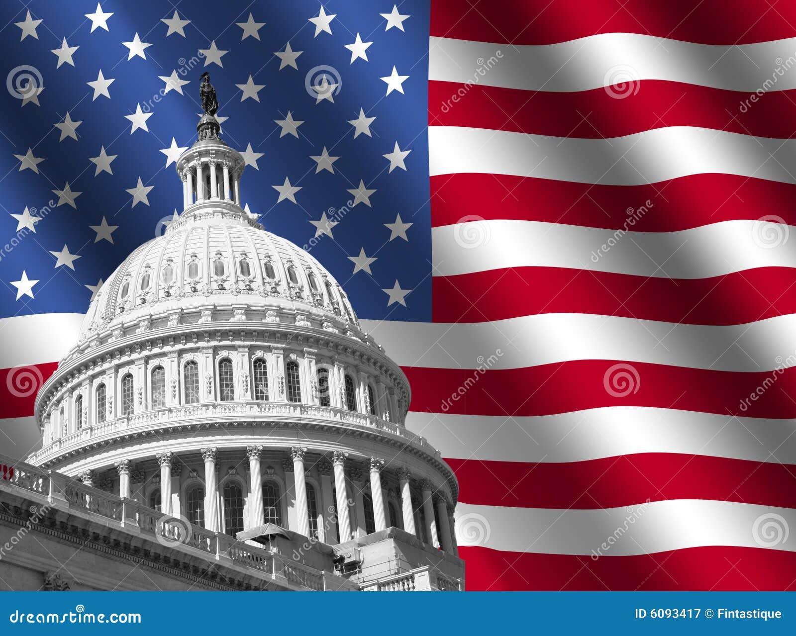 капитолий здания flag мы