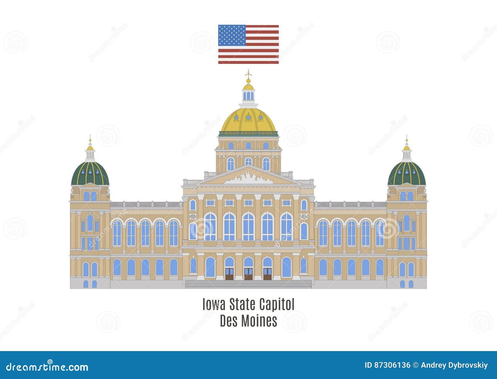 Капитолий положения Айовы, Des Moines