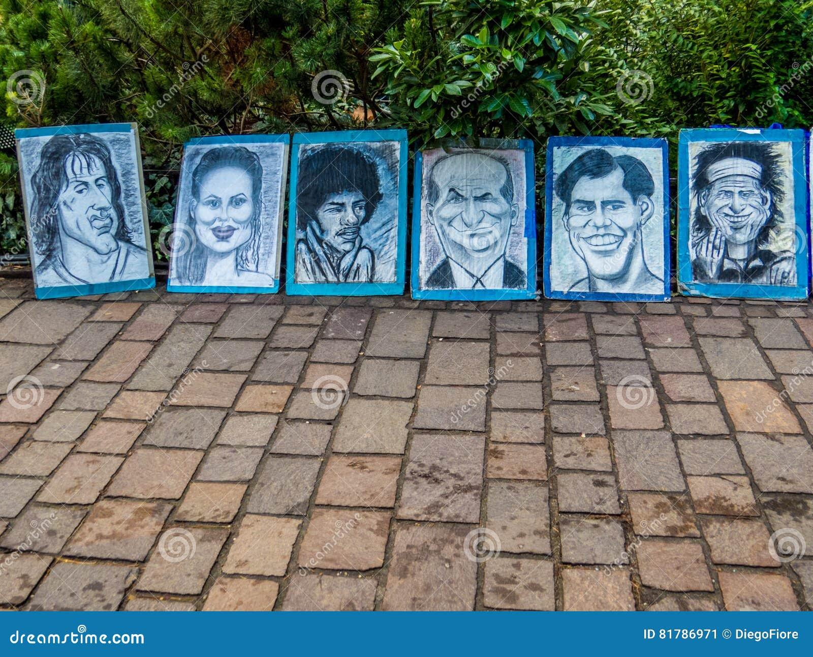 Карикатуры художника улицы