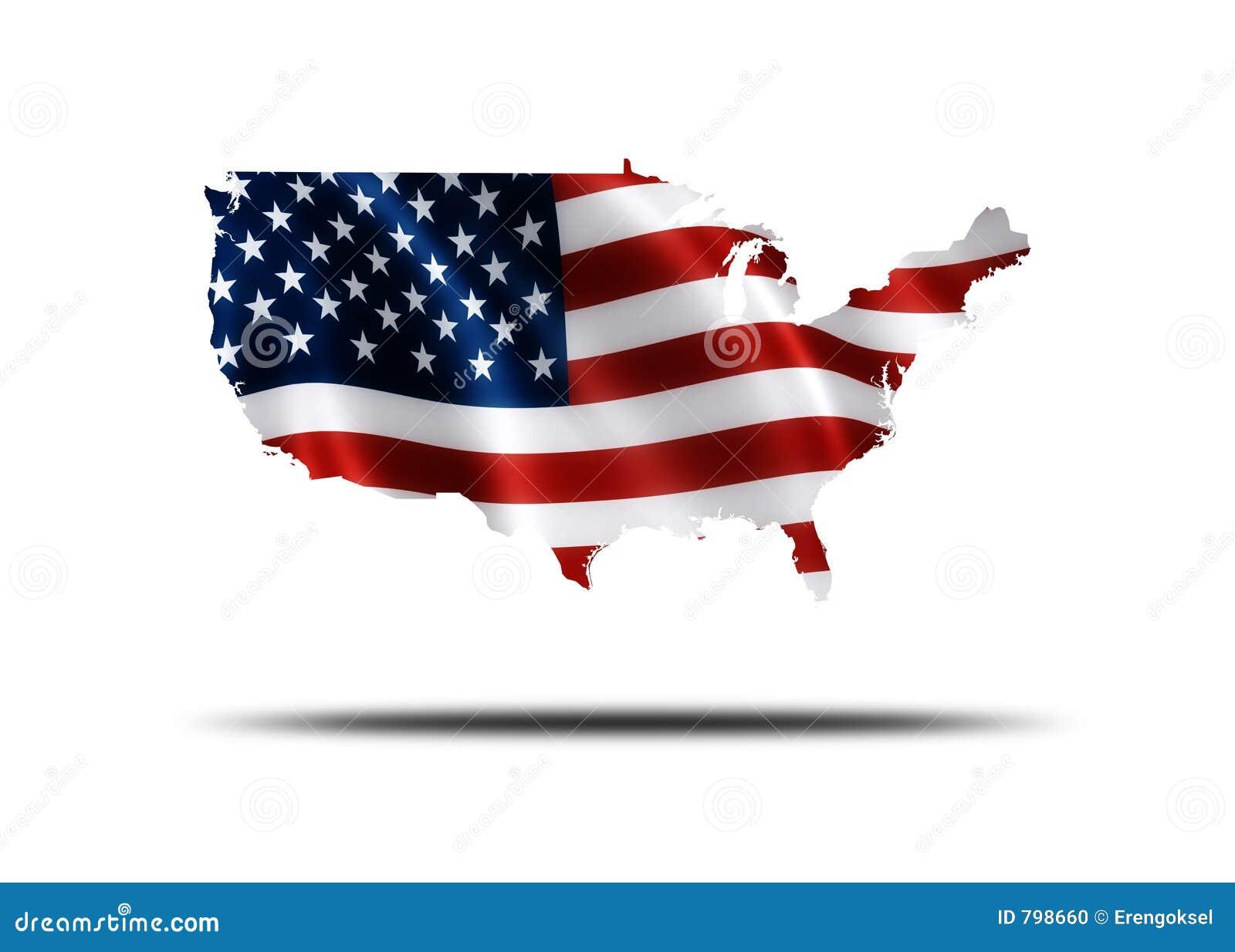 карта американского флага