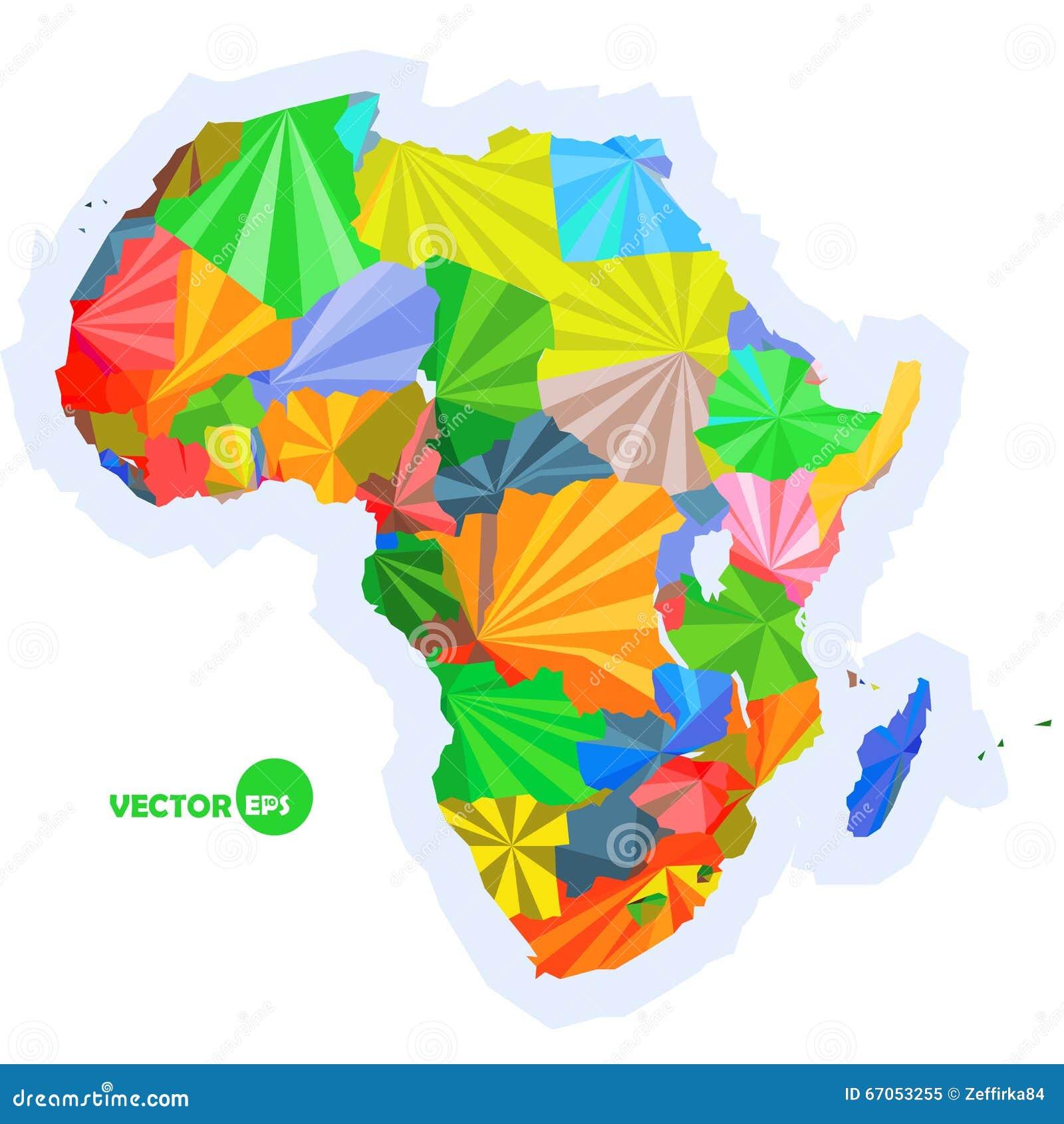 карта Африки карта концепции с картой Африки стран красочной, абстрактным дизайном infographic, картой предпосылки Африки внутри