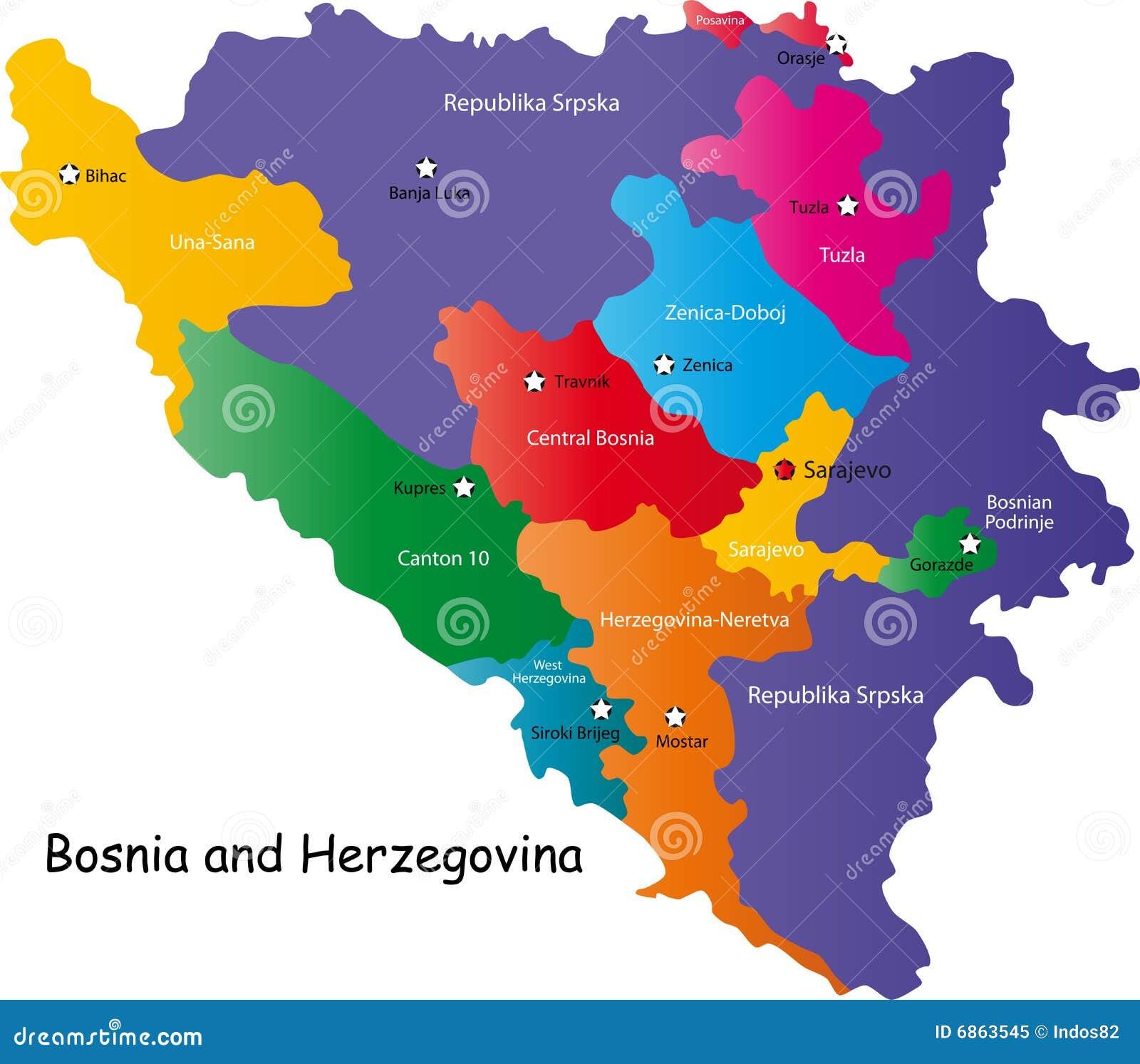 карта Боснии - herzegovina