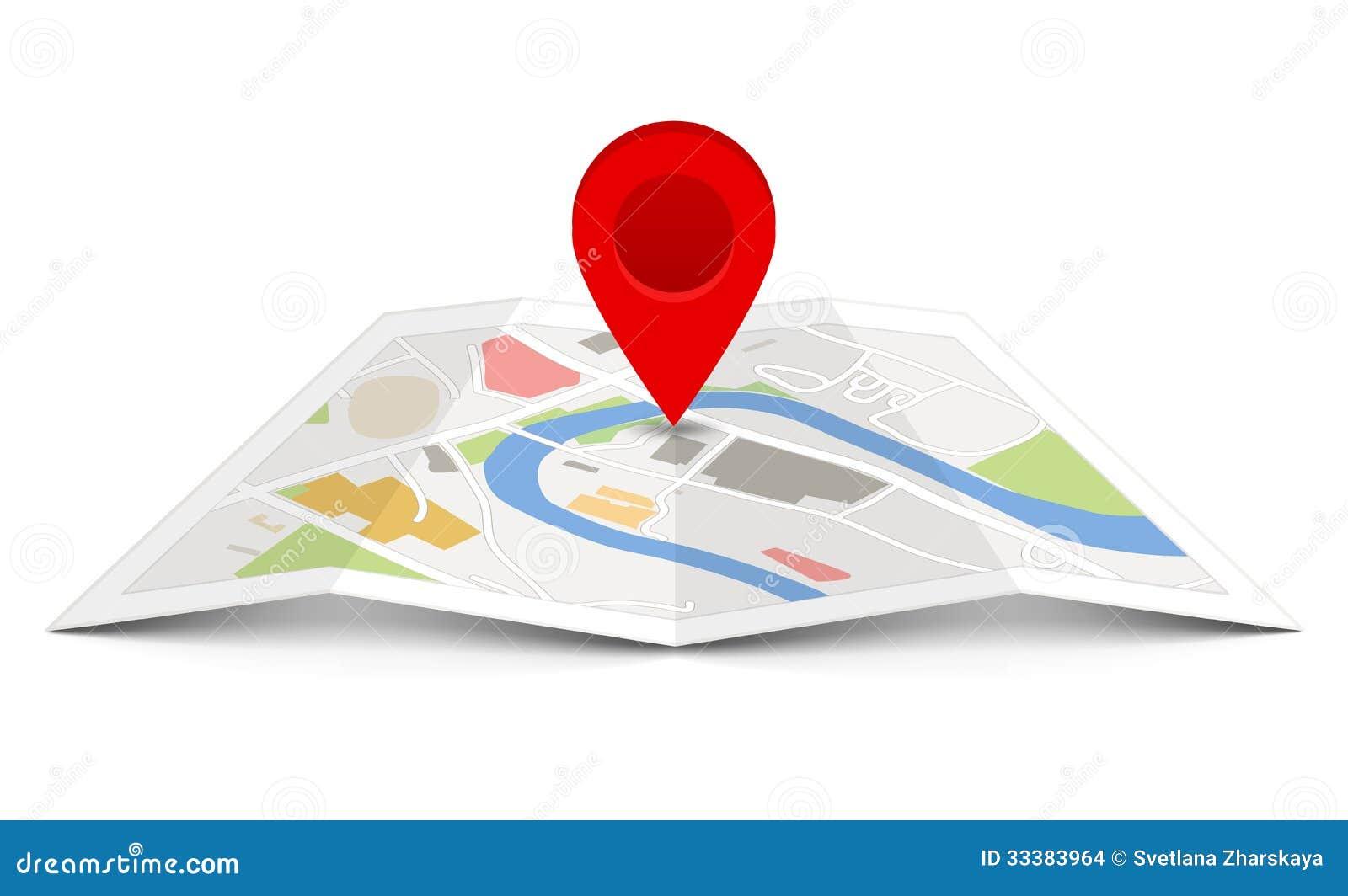 Карта вектора с указателем штыря