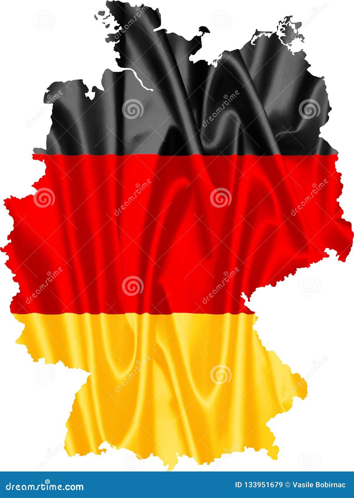 карта Германии флага