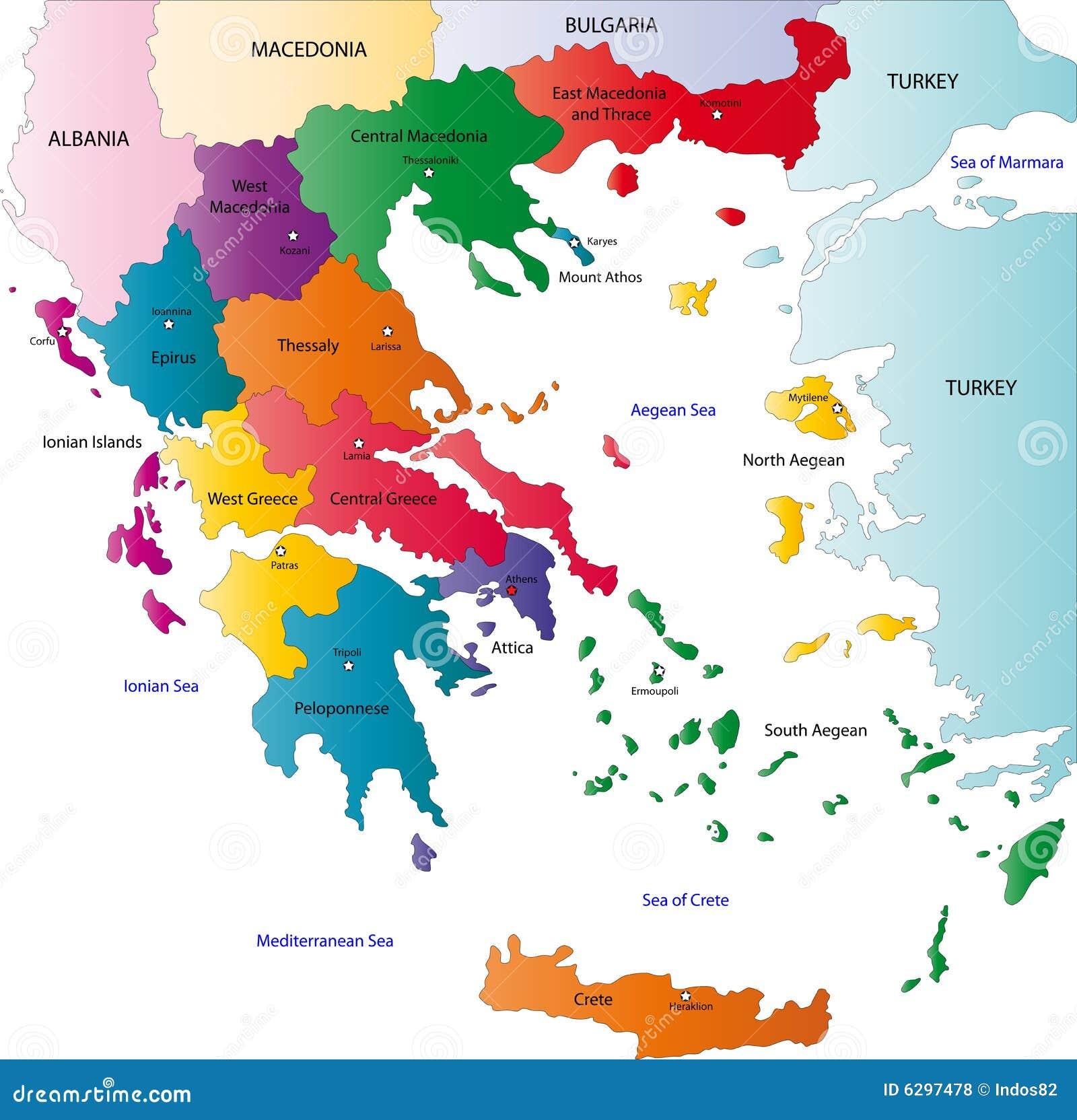 Карта Греции