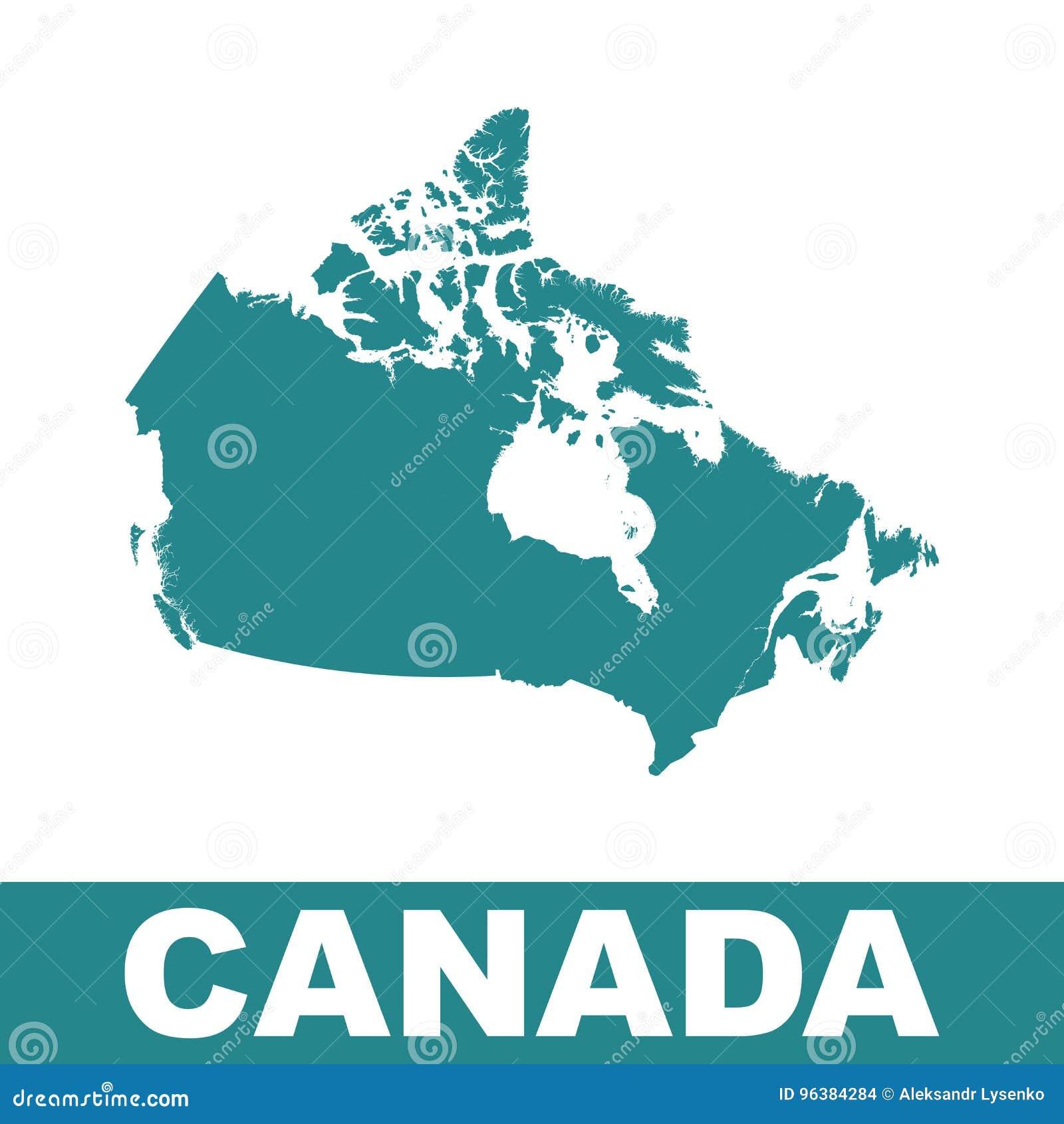 карта Канады континентальная политическая Плоская иллюстрация вектора