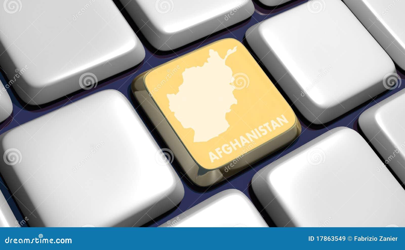 карта клавиатуры ключа детали Афганистана