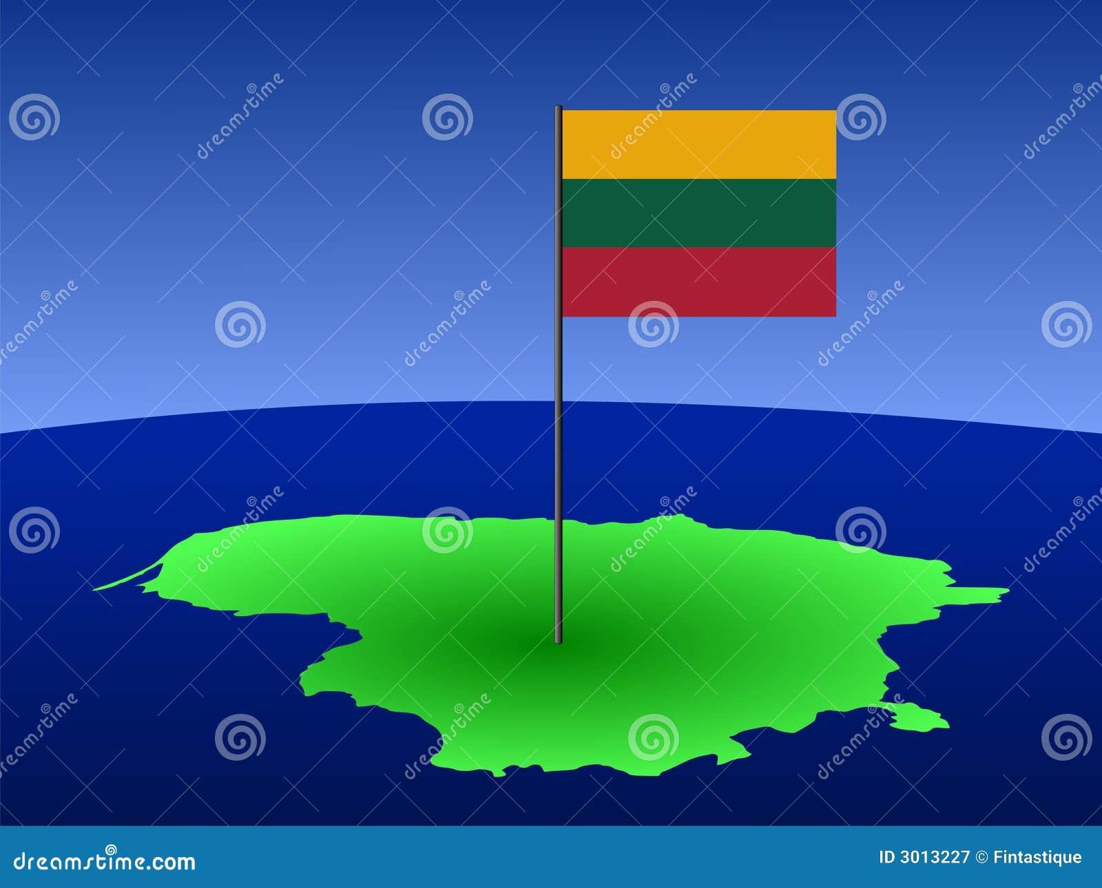 карта Литвы флага