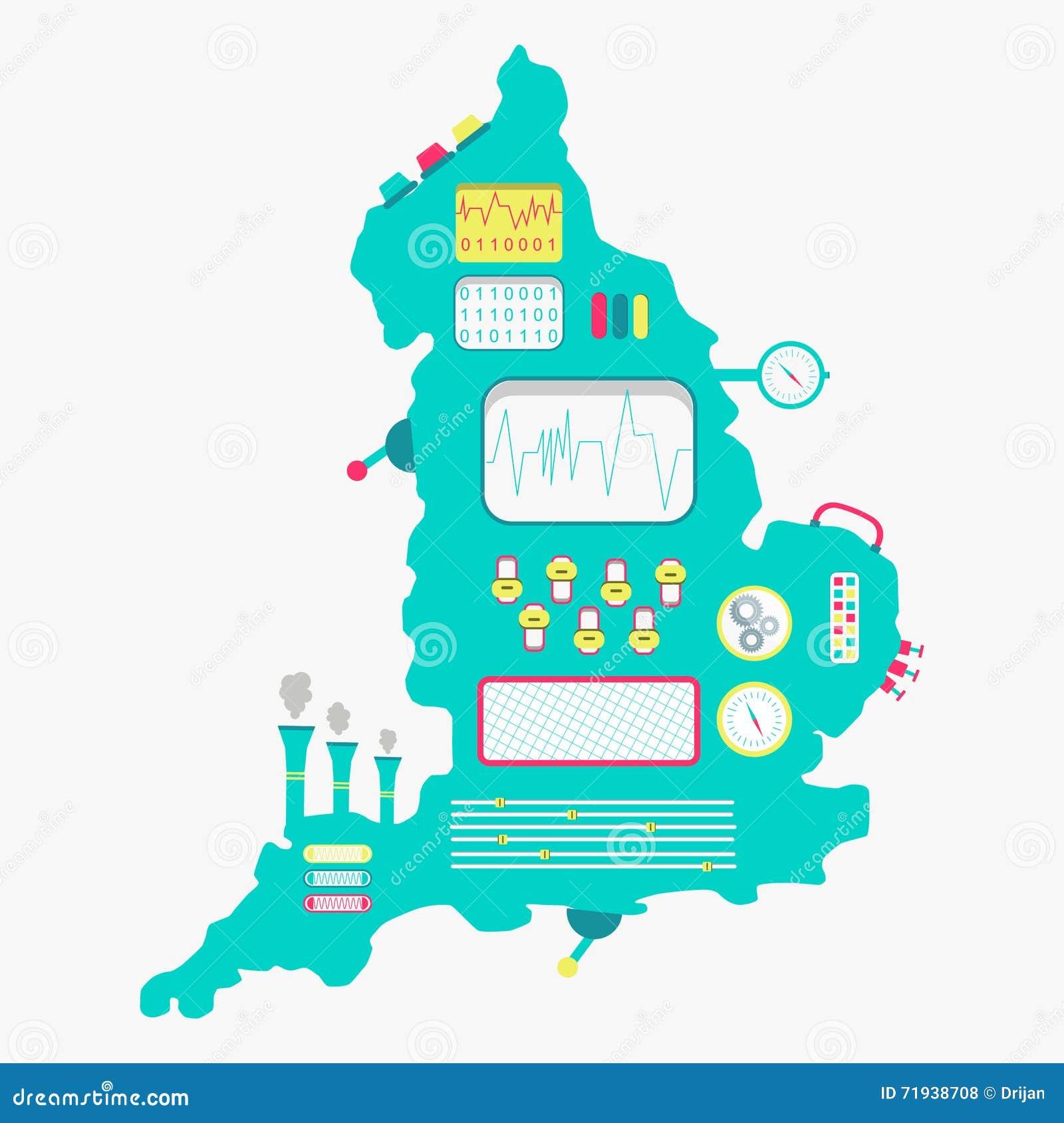 Карта машины Англии
