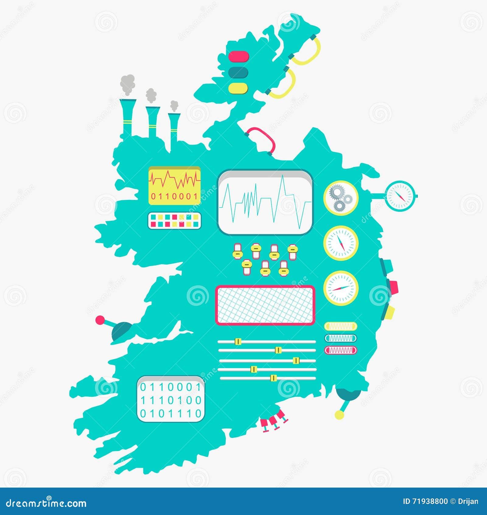 Карта машины Ирландии