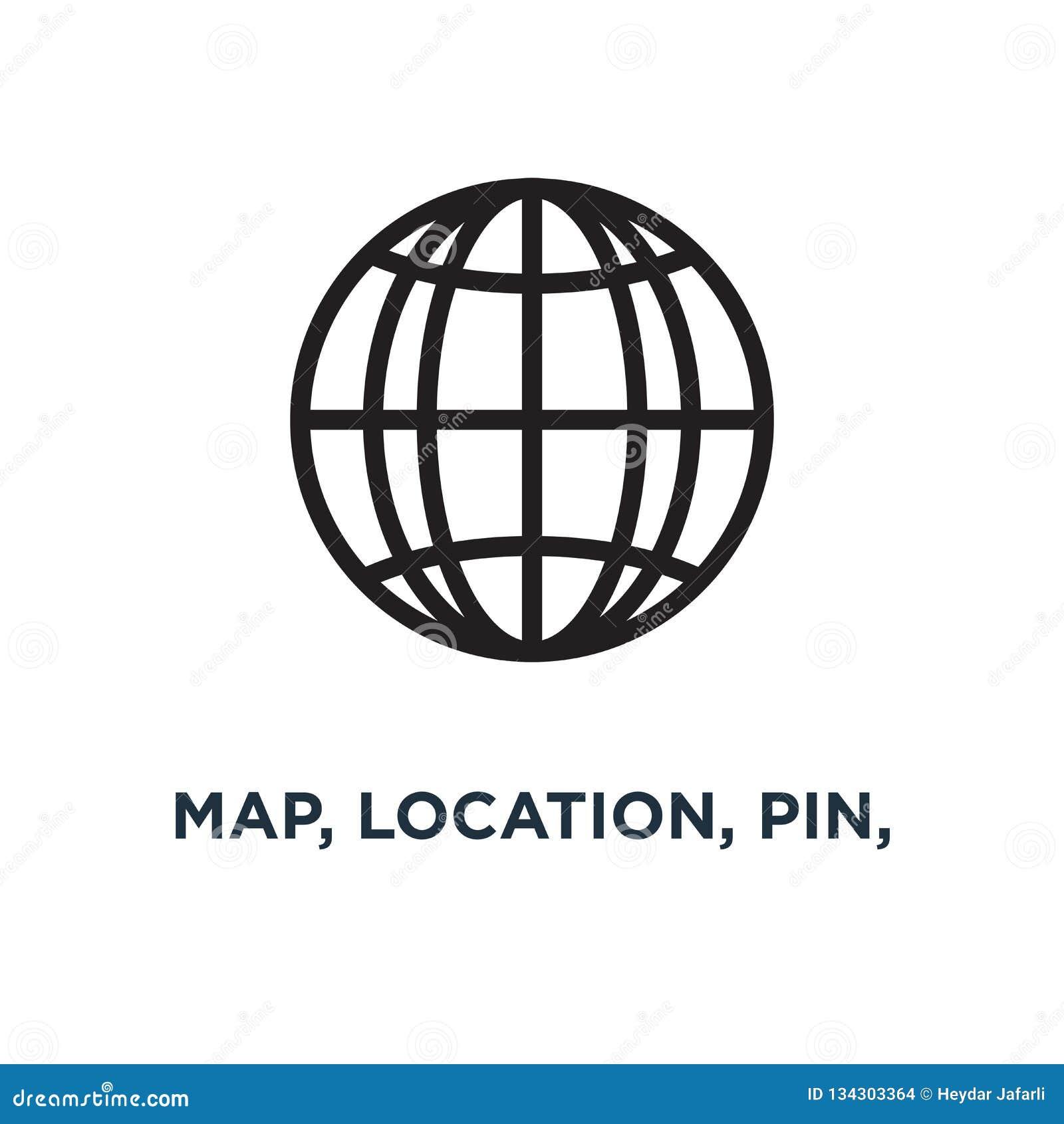 карта, положение, штырь, значок значков навигации перемещения conce gps дороги