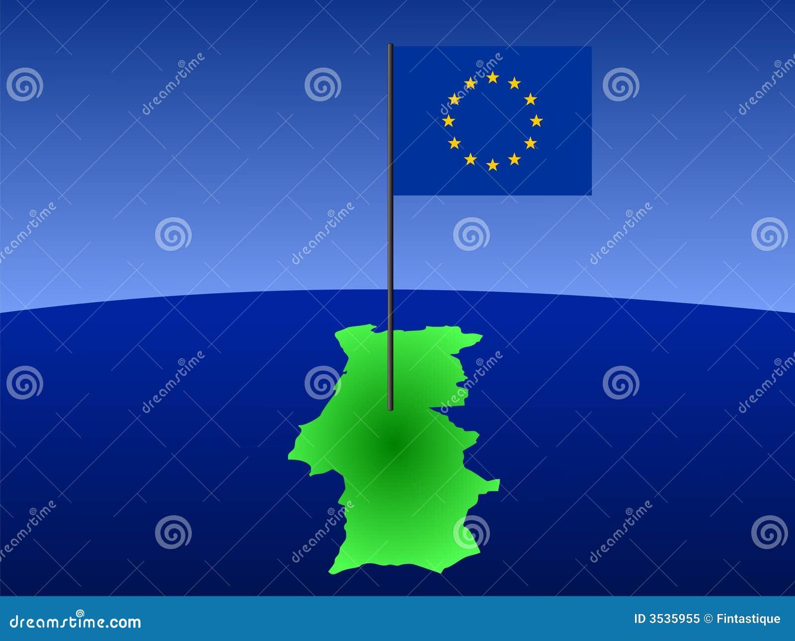 карта Португалия флага