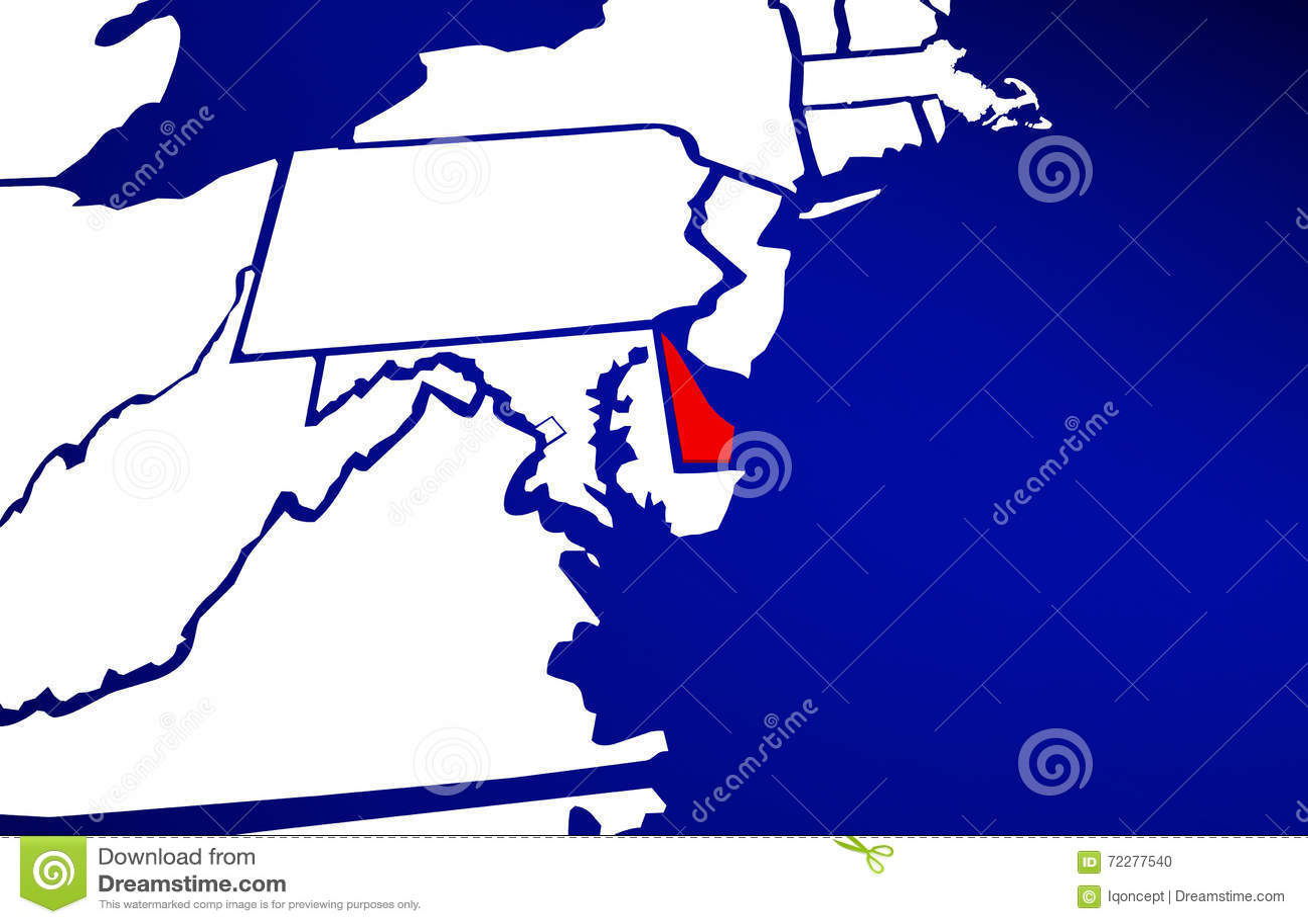 Download Карта положения Делавера DE Положения Соединенных Штатов Америки Иллюстрация штока - иллюстрации насчитывающей землеведение, выделять: 72277540