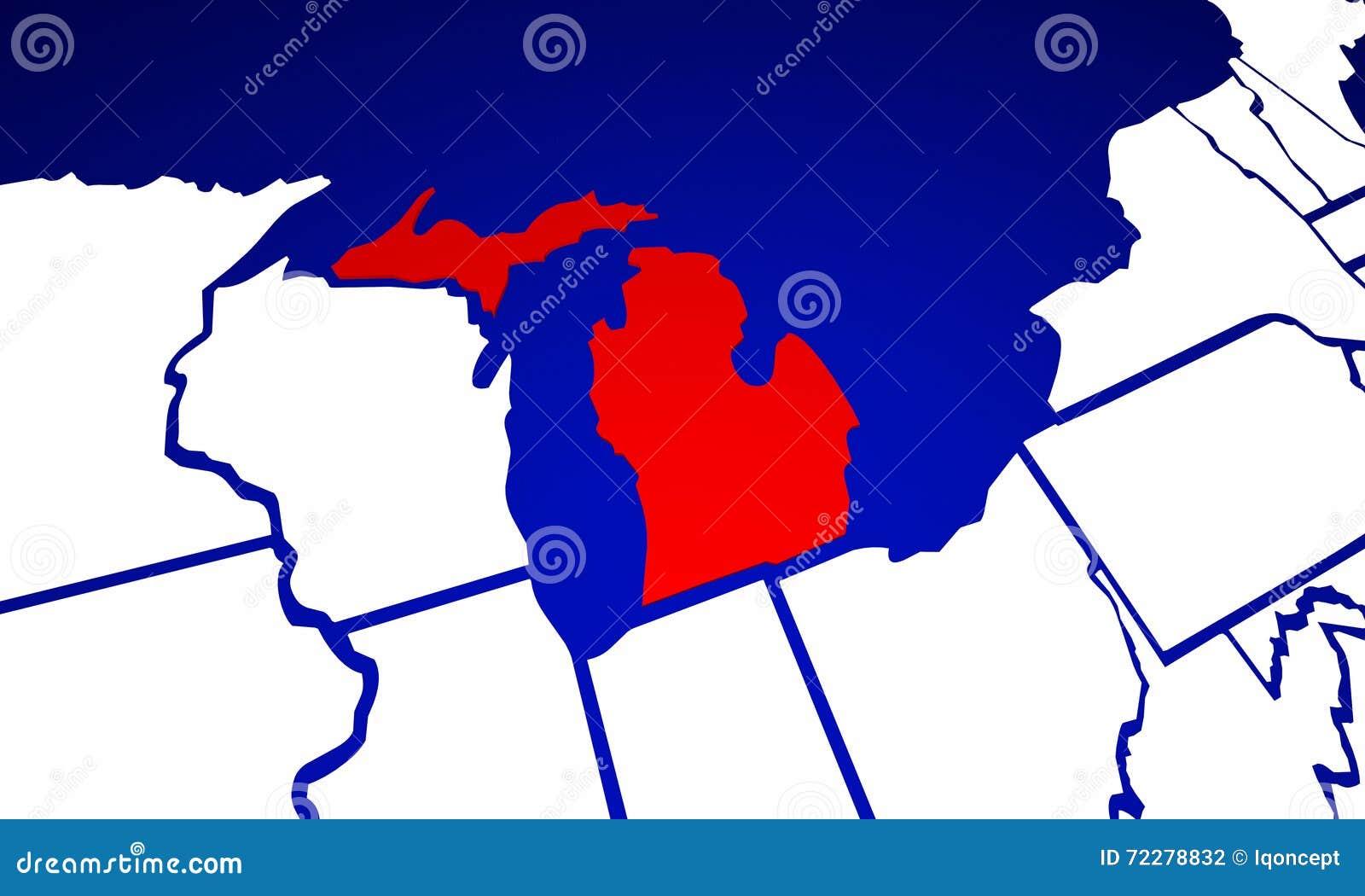 Download Карта положения Соединенных Штатов Америки положения Мичигана MI Иллюстрация штока - иллюстрации насчитывающей highlight, мичиган: 72278832
