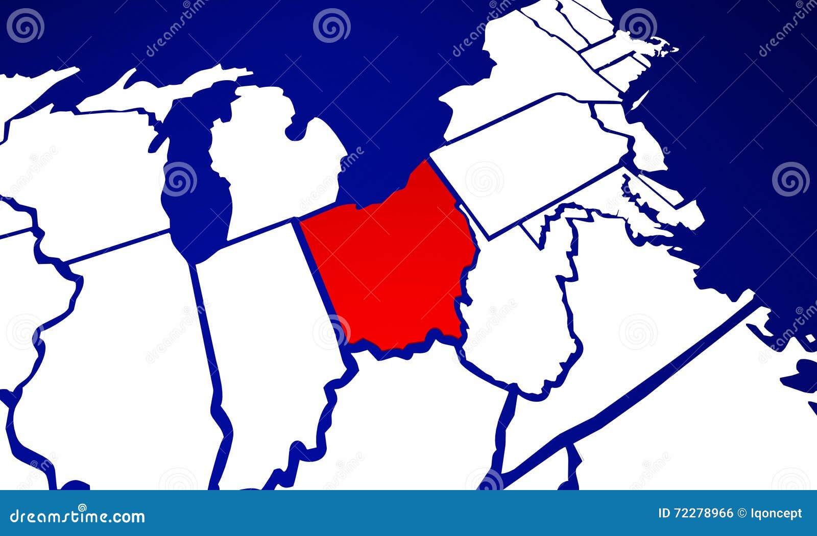 Download Карта положения Соединенных Штатов Америки положения Огайо OH Иллюстрация штока - иллюстрации насчитывающей американская, страна: 72278966