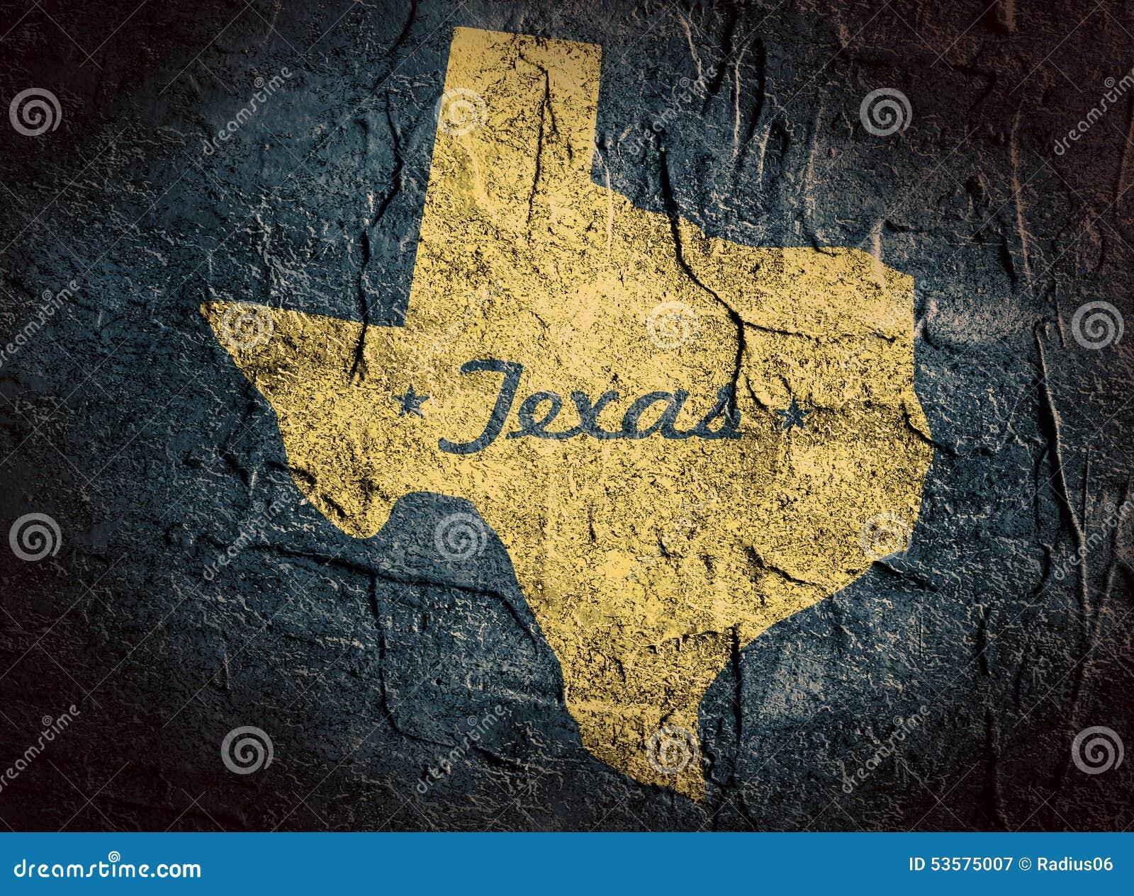 Карта положения Техаса