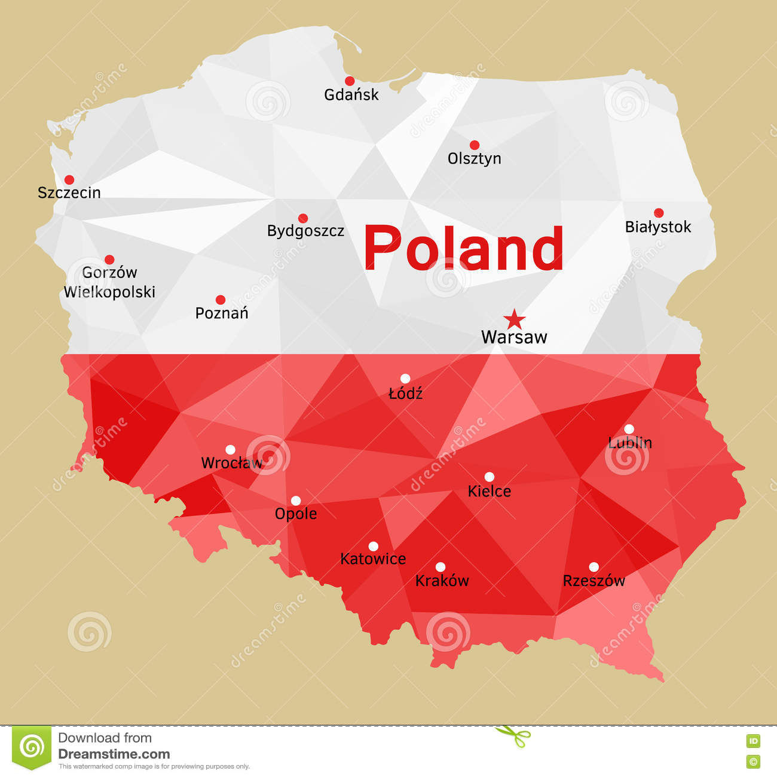 карта Польша